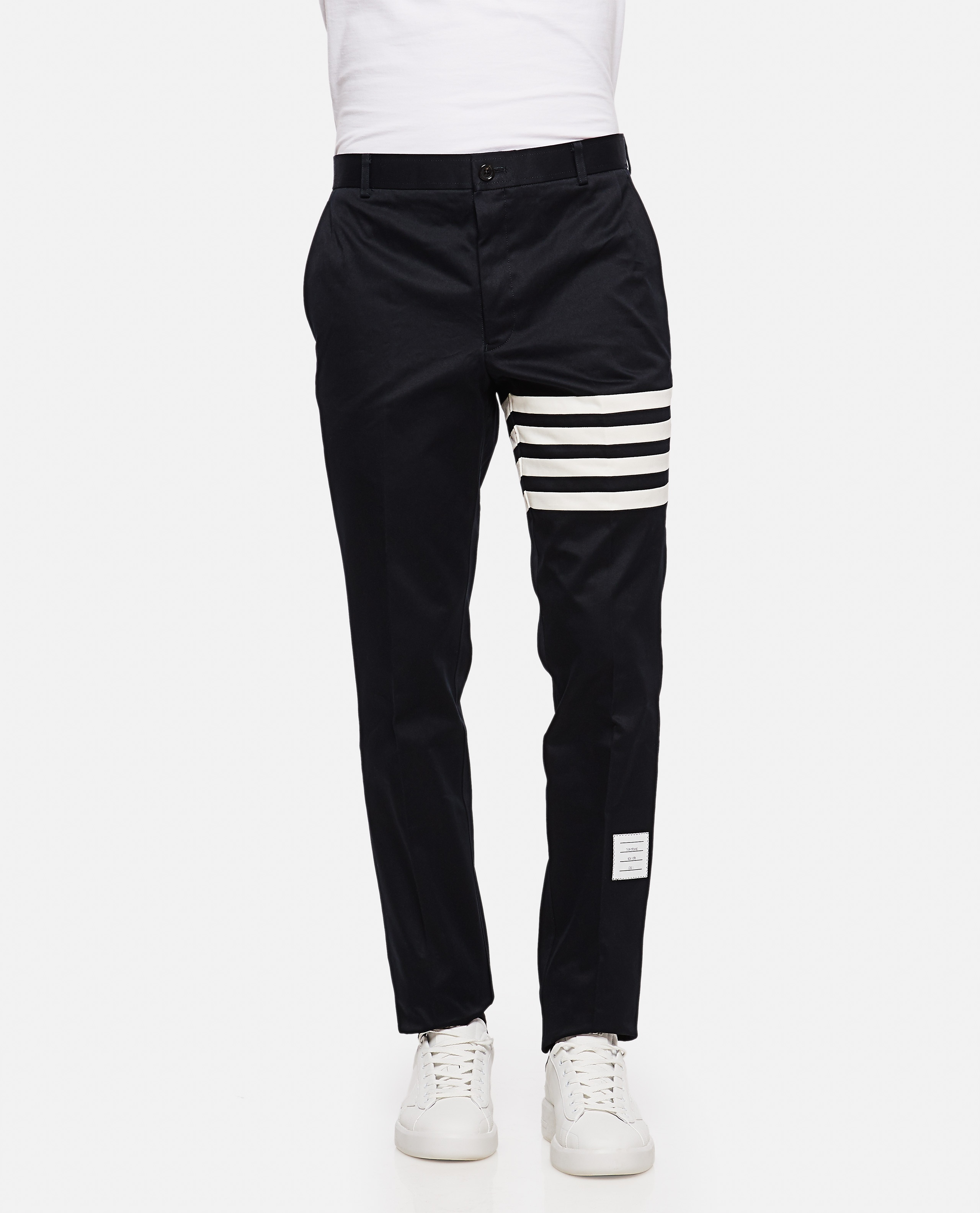 Cotton twill chino trousers Men Thom Browne 000110820016816 1