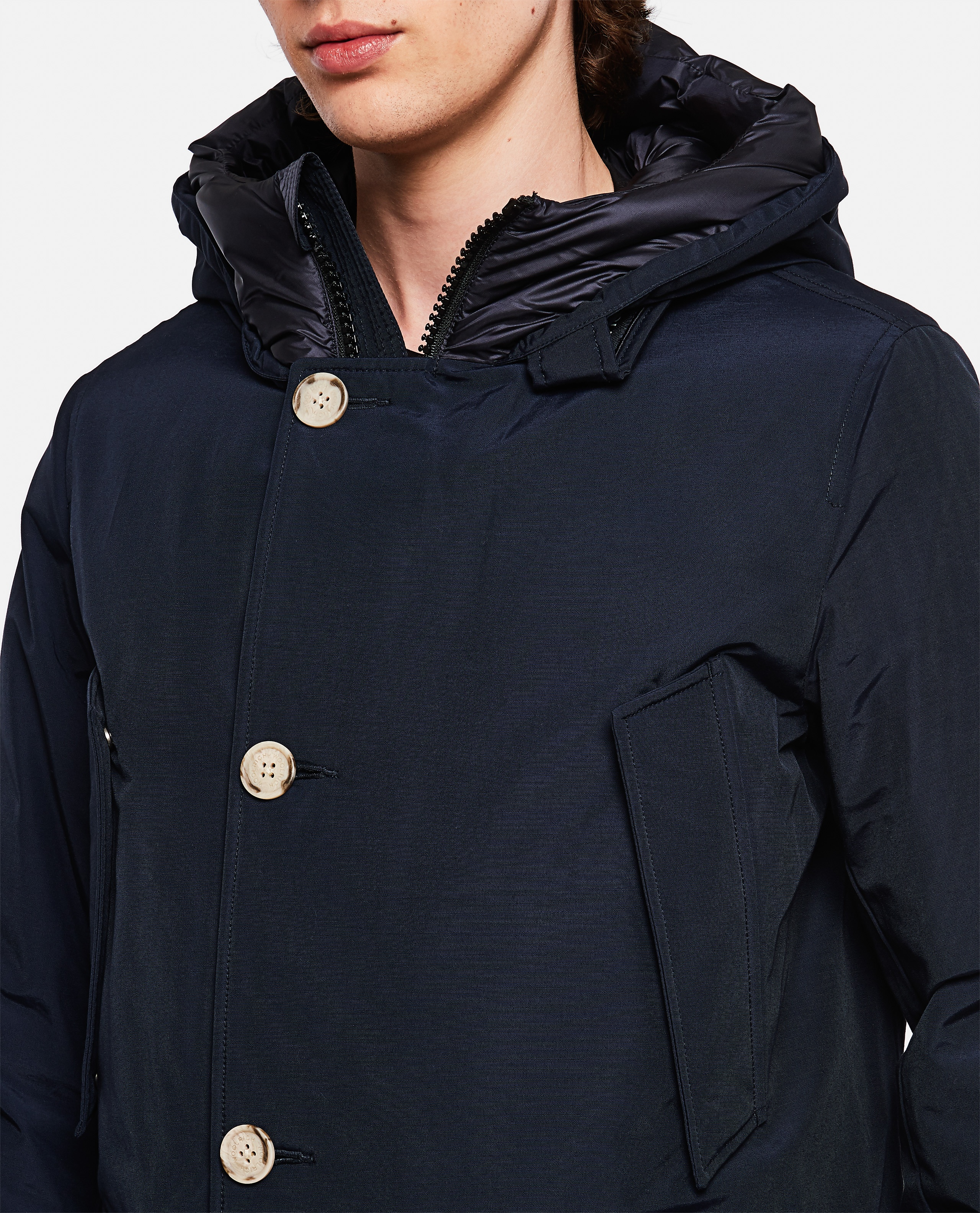 Padded coat with hood  Men Woolrich 000279250041179 4