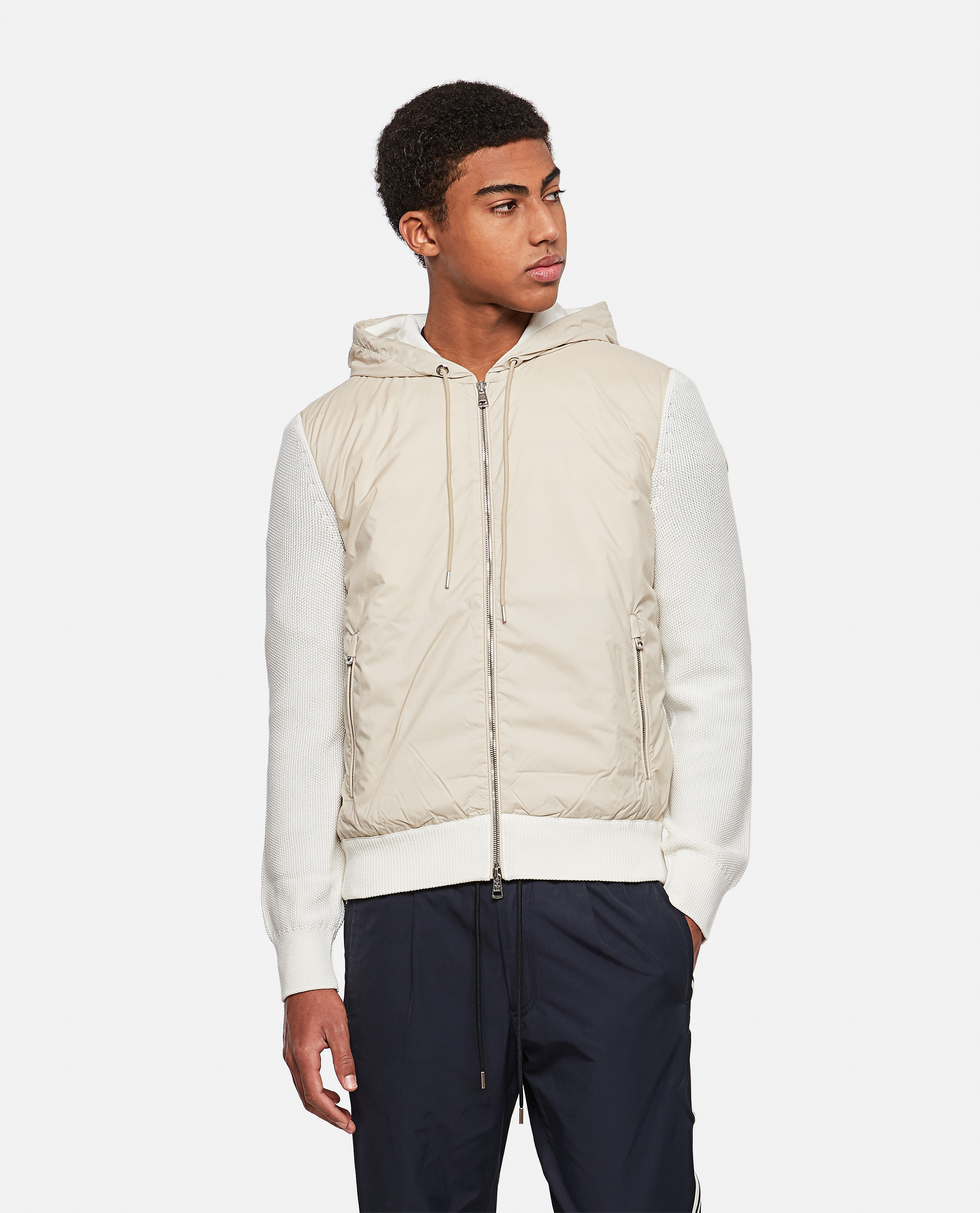 Cardigan with padded detail Men Moncler 000315400046219 1