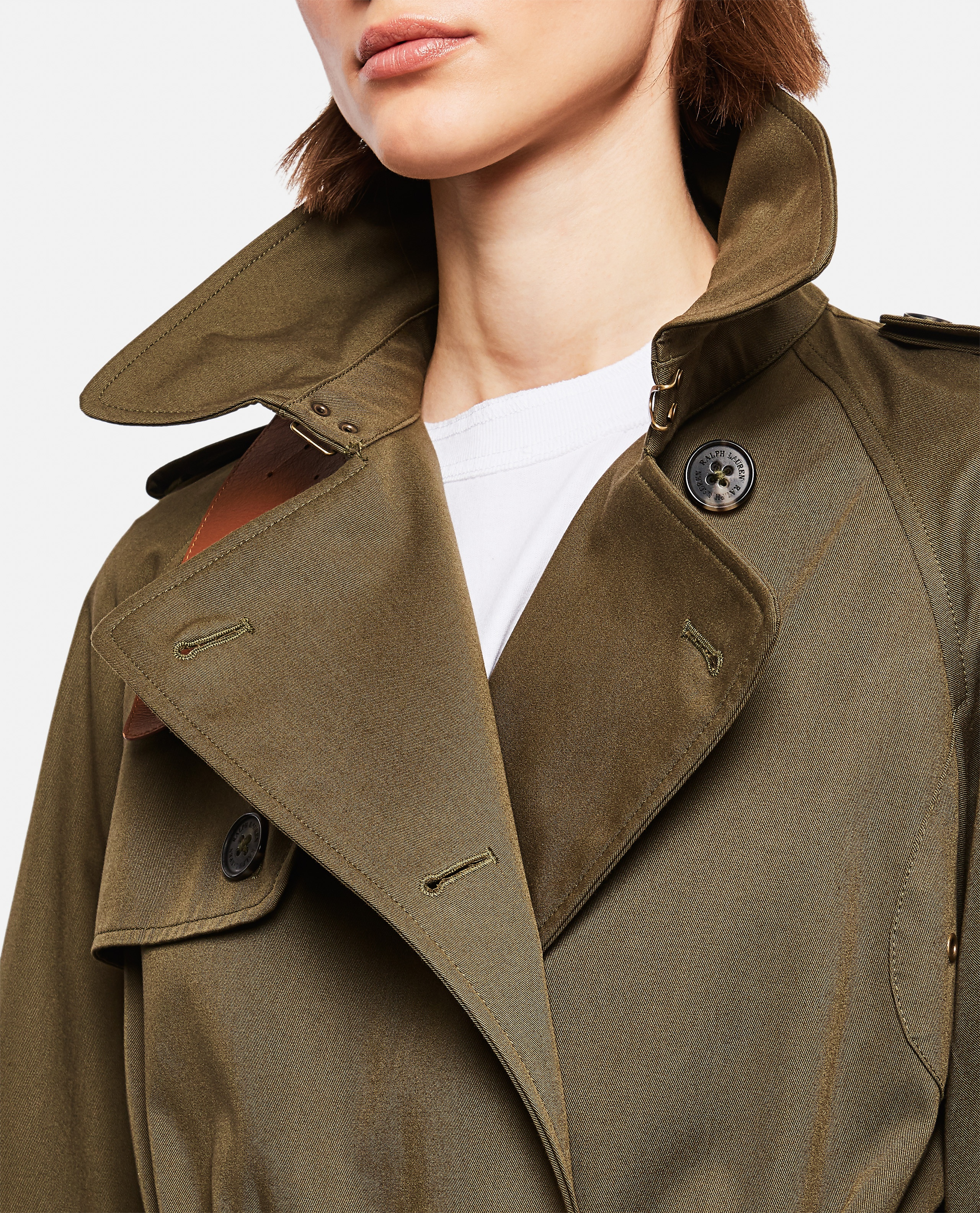 Double-breasted trench coat Women Ralph Lauren Collection 000221310032758 4