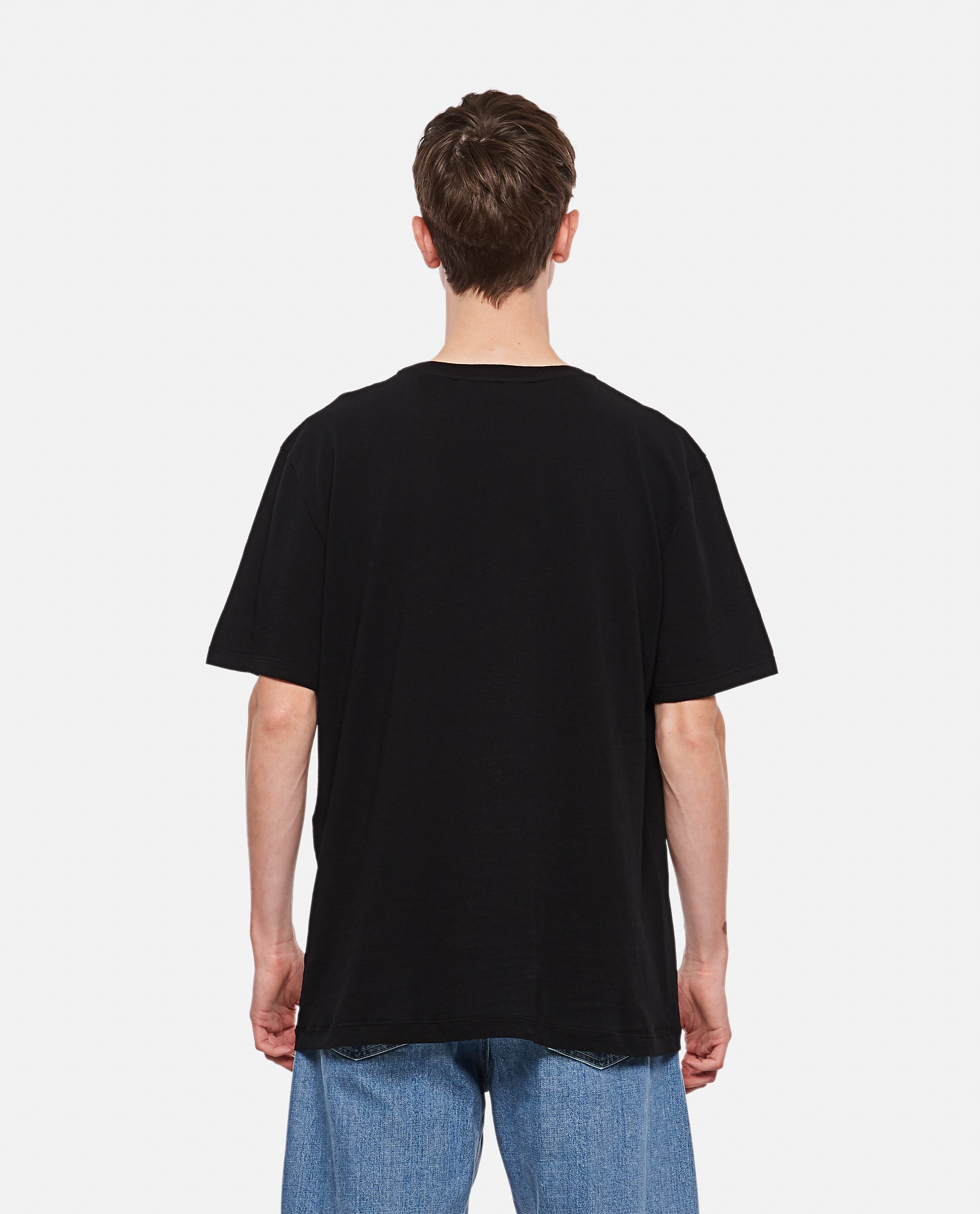 Oversized washed T-shirt with Gucci logo Men Gucci 000136150020663 3