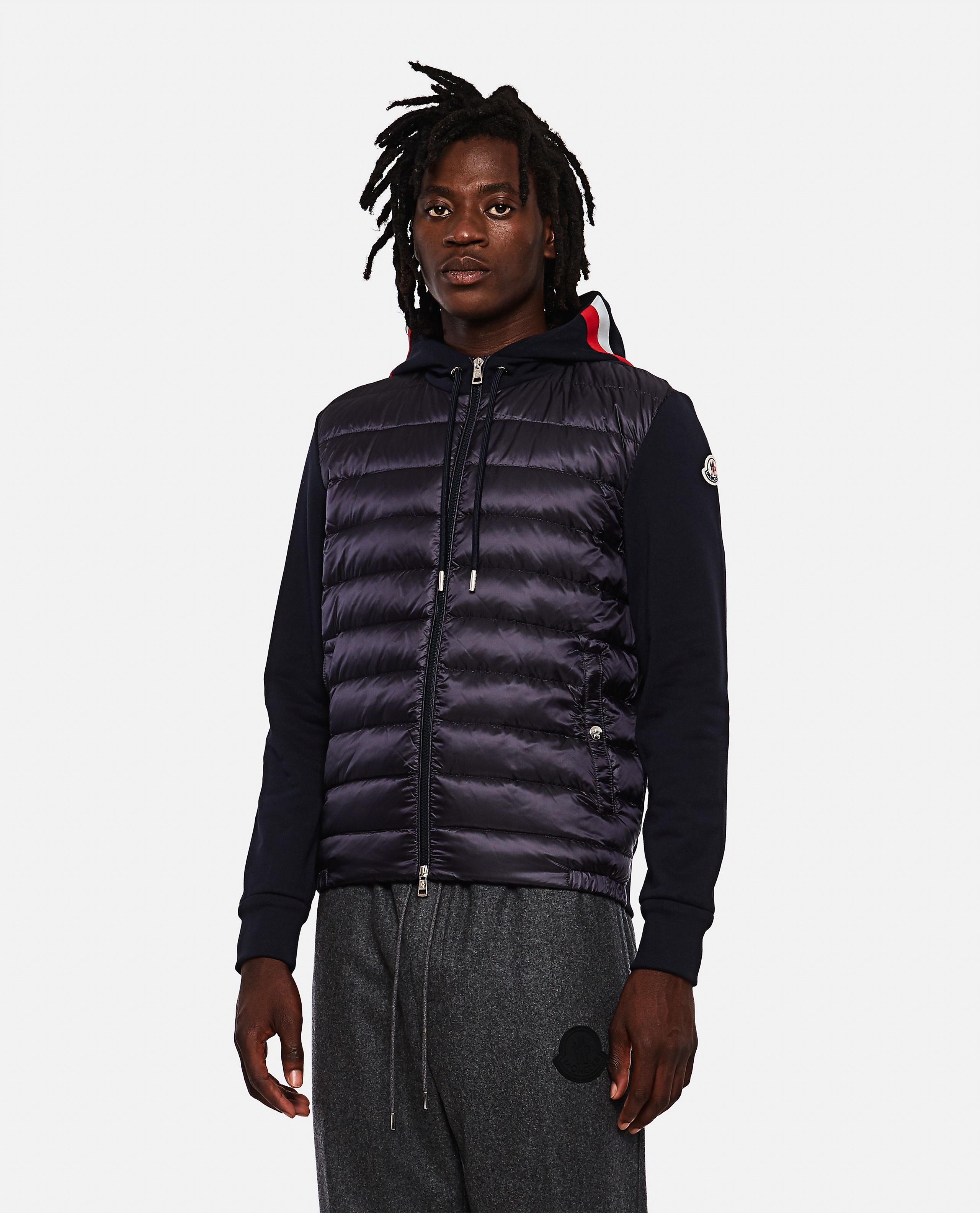 Padded sweatshirt with zip Men Moncler 000271600040013 1