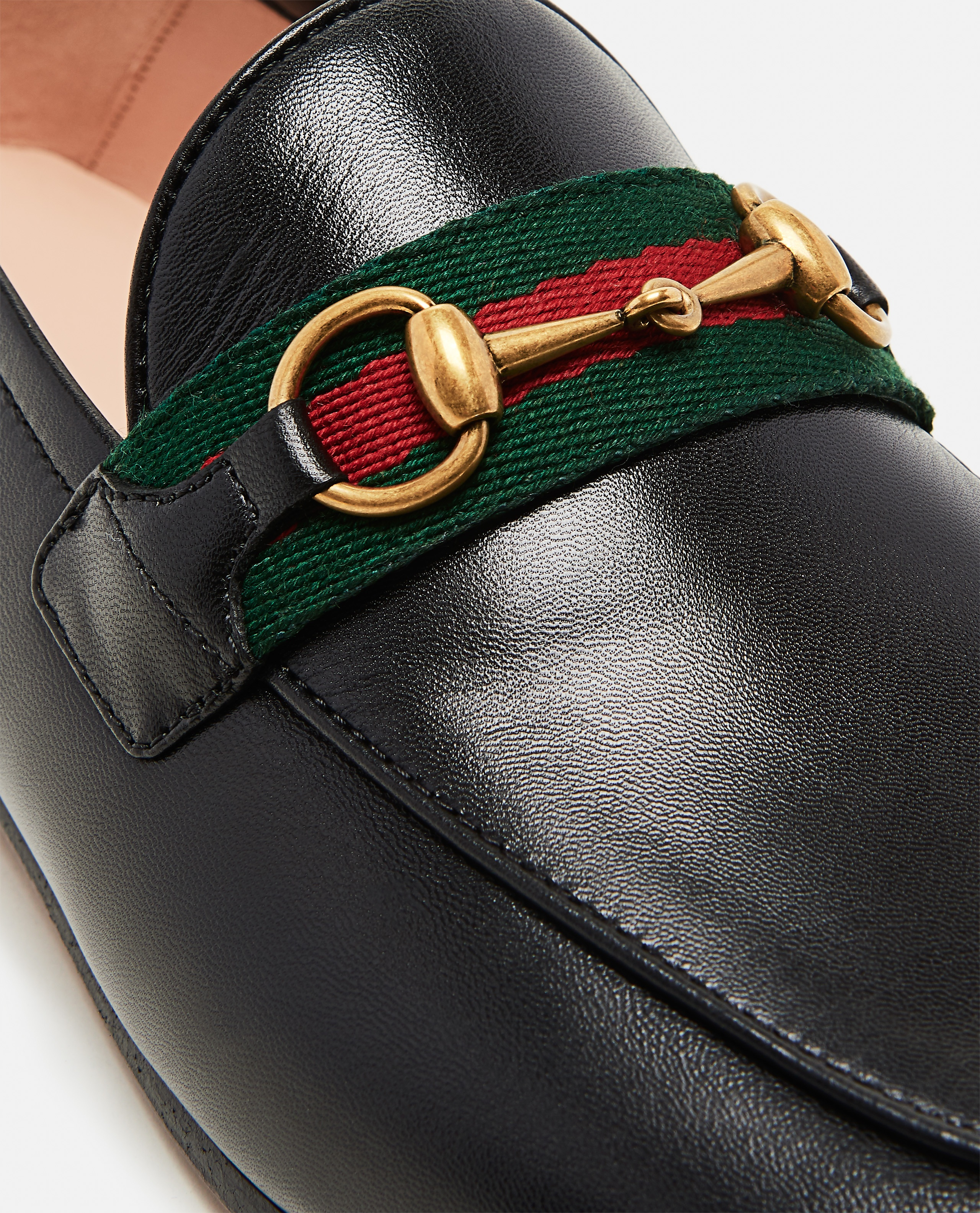Moccasin with Web ribbon Women Gucci 000259340038369 4