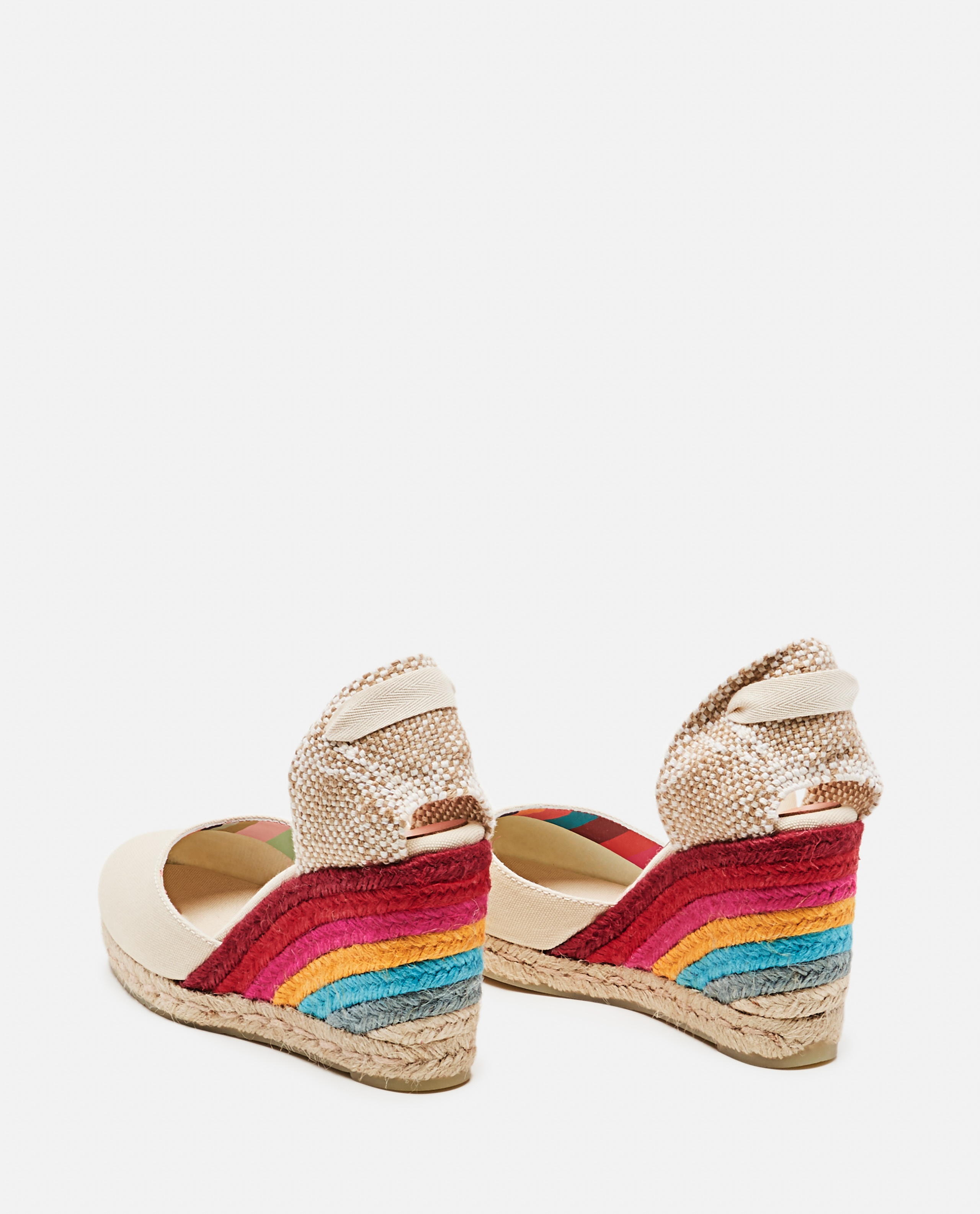 Castañer by Paul Smith. Espadrilles in tela con zeppa 9cm Donna Castaner 000286220042242 3