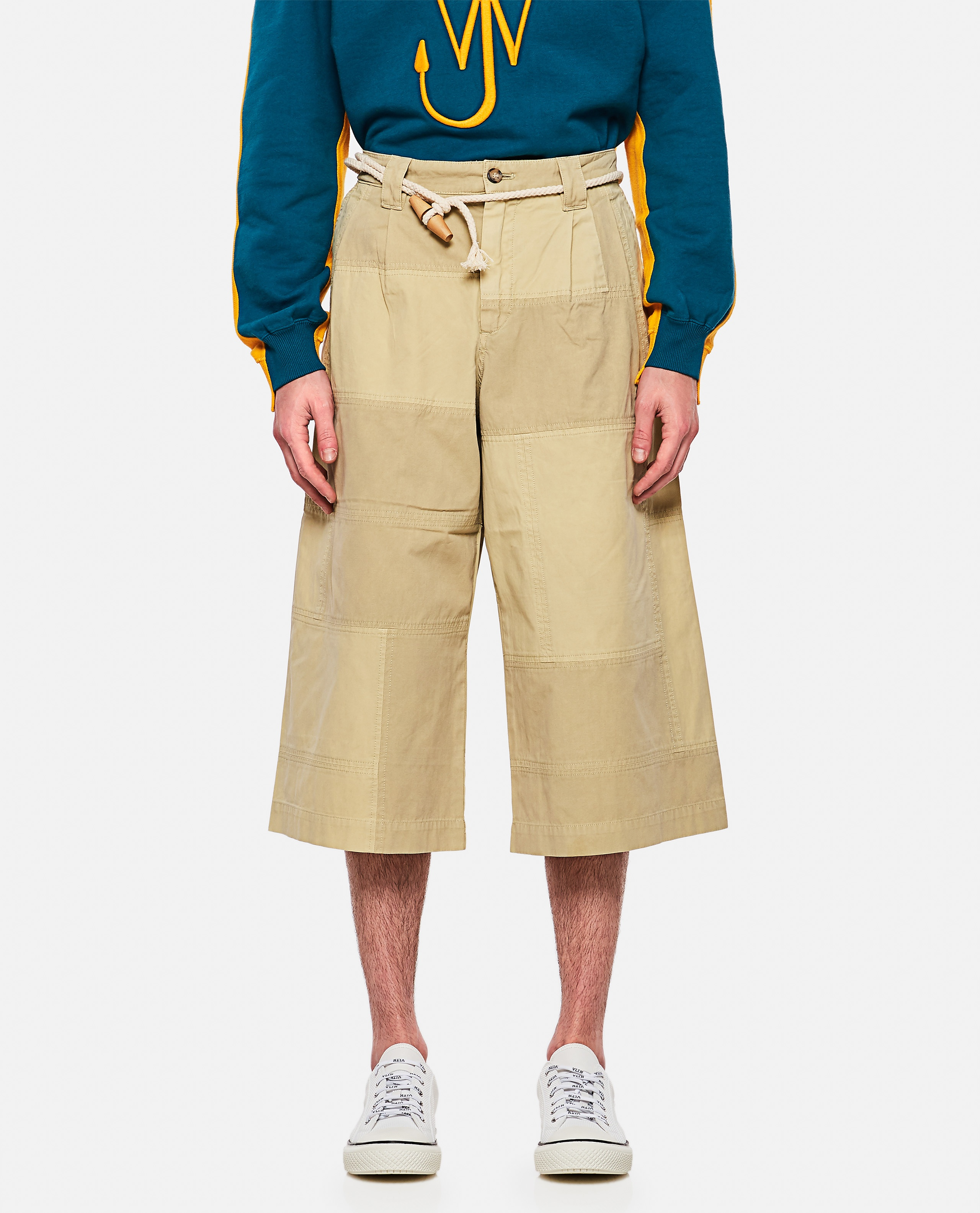 Patchwork cropped trousers Men J.W. Anderson 000293250043189 1