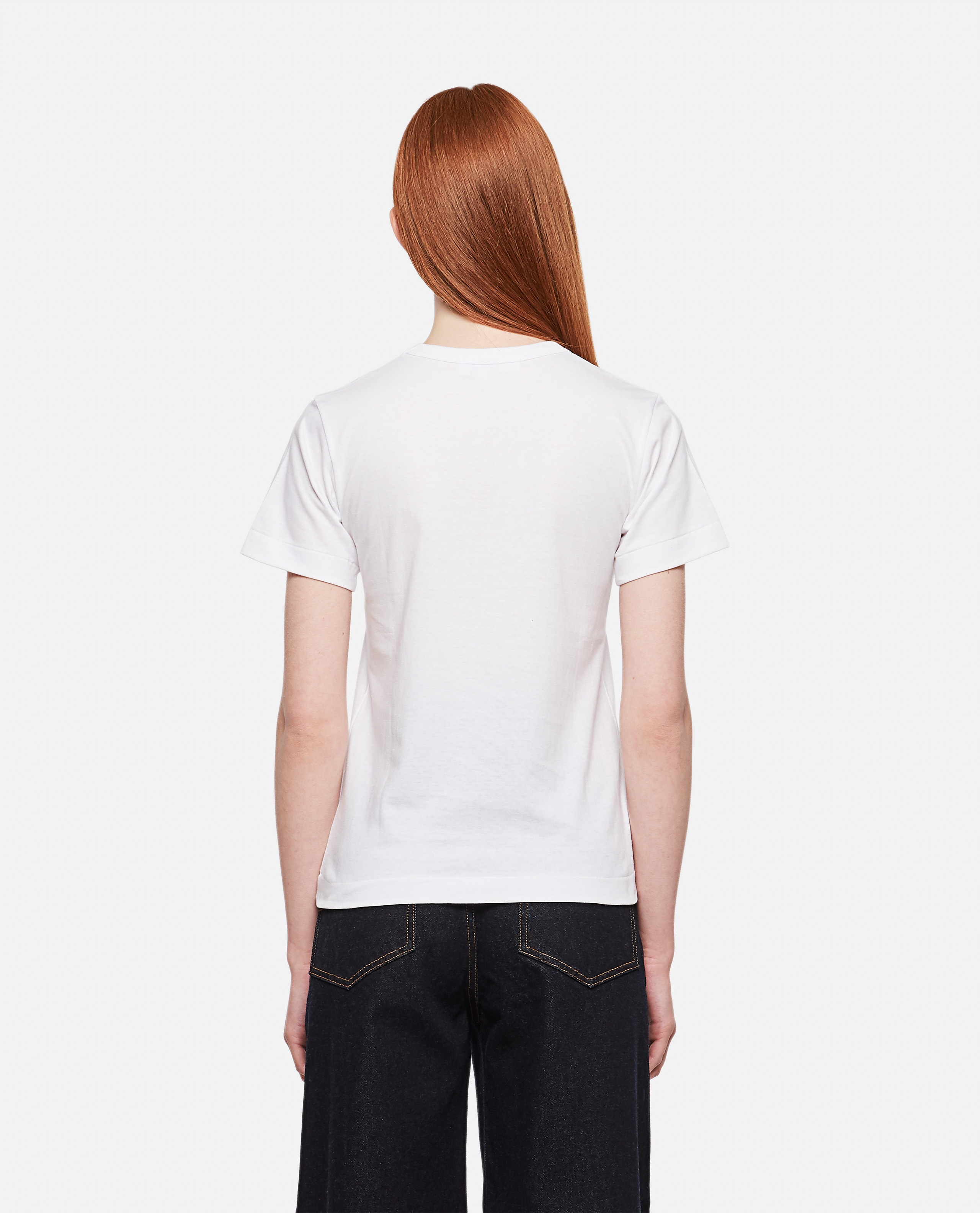Cotton T-shirt with heart patch Women Comme des Garcons Play 000290210042738 3