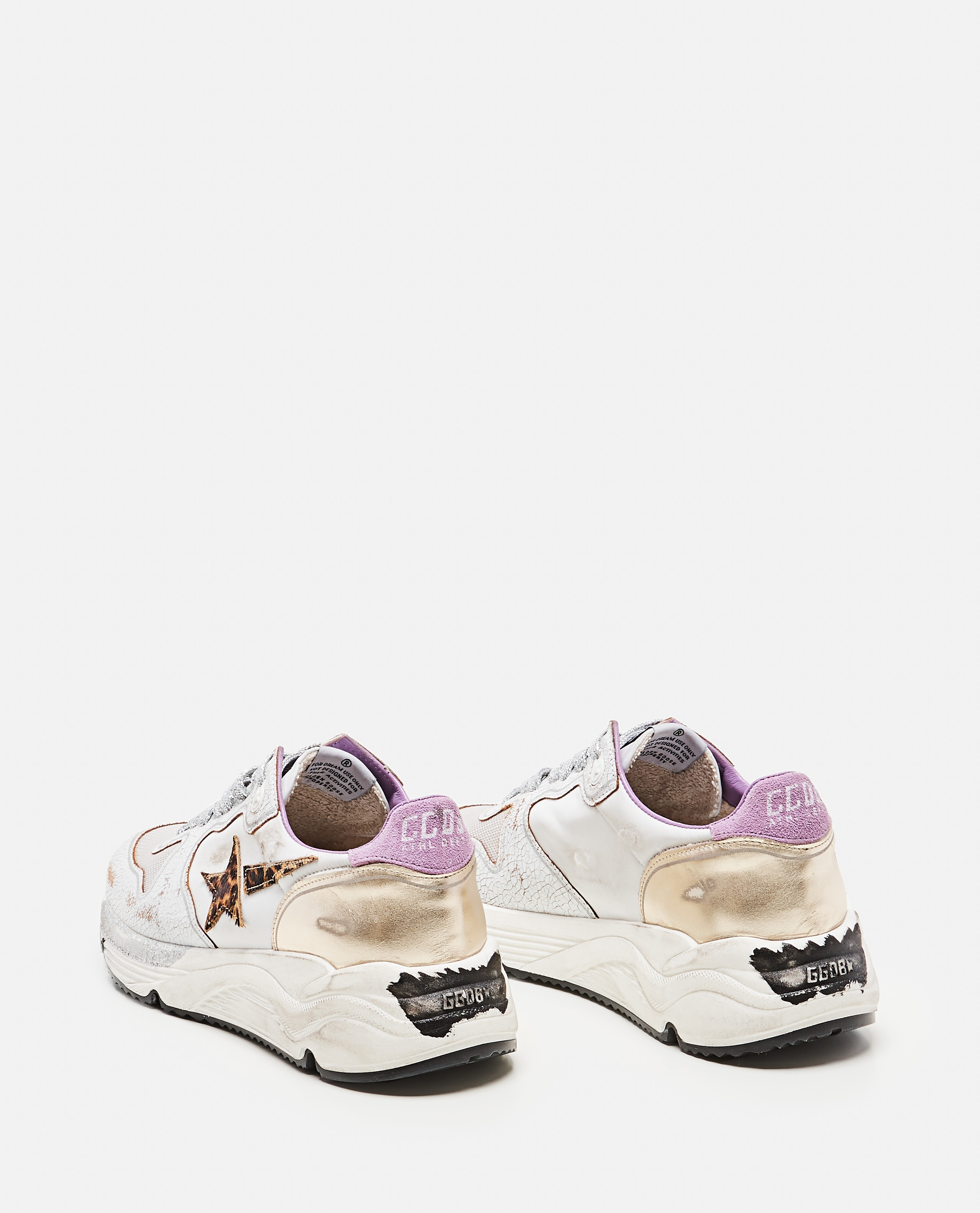 Golden Goose running sole sneakers in nylon and crackle leather Donna Golden Goose 000286920042316 3