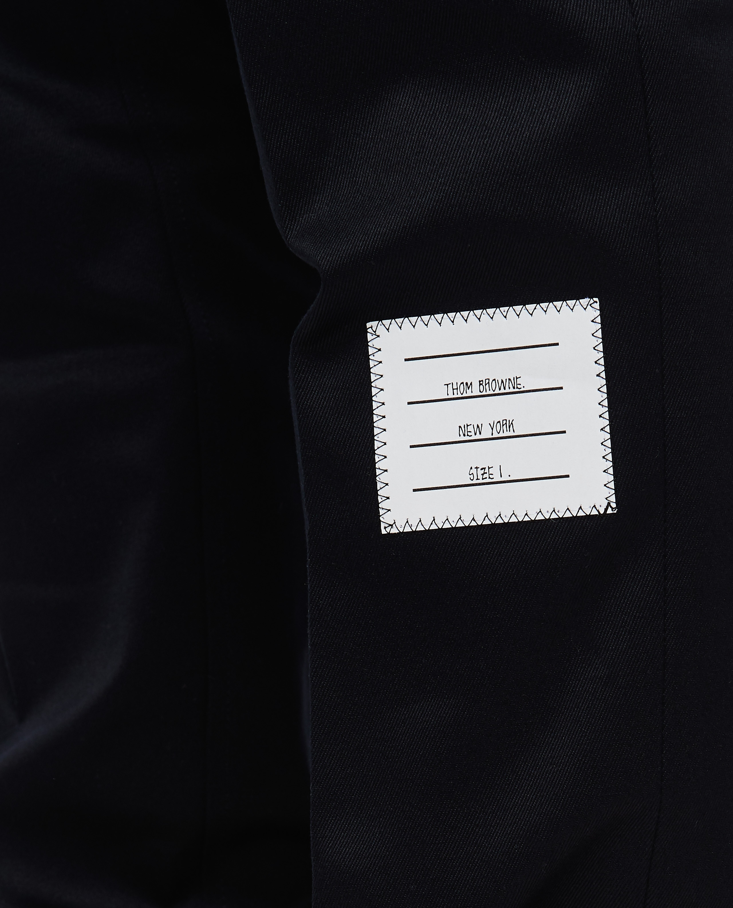 Cotton twill trousers Men Thom Browne 000215830032004 4