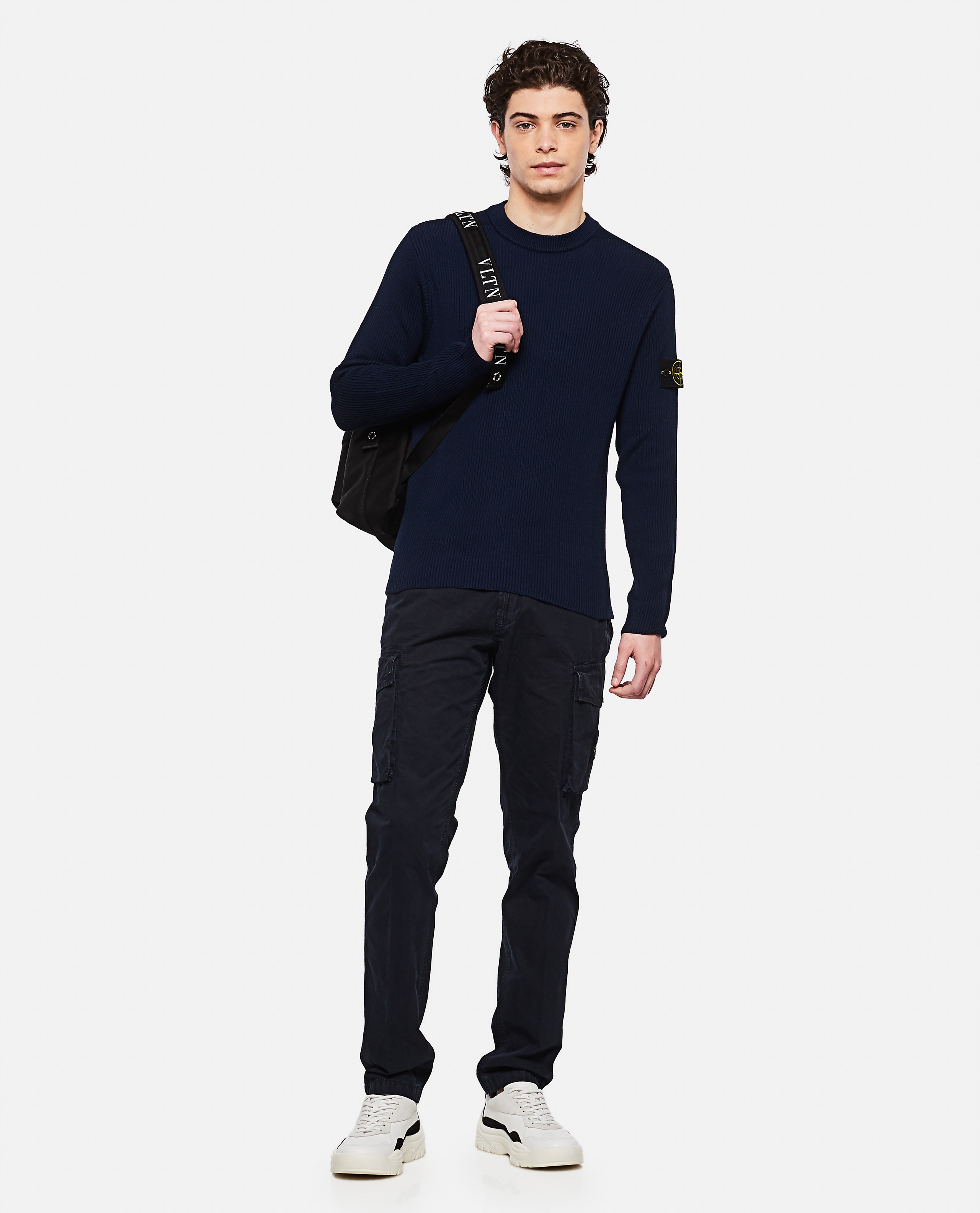 Sweater with logo patch Men Stone Island 000292760043118 2