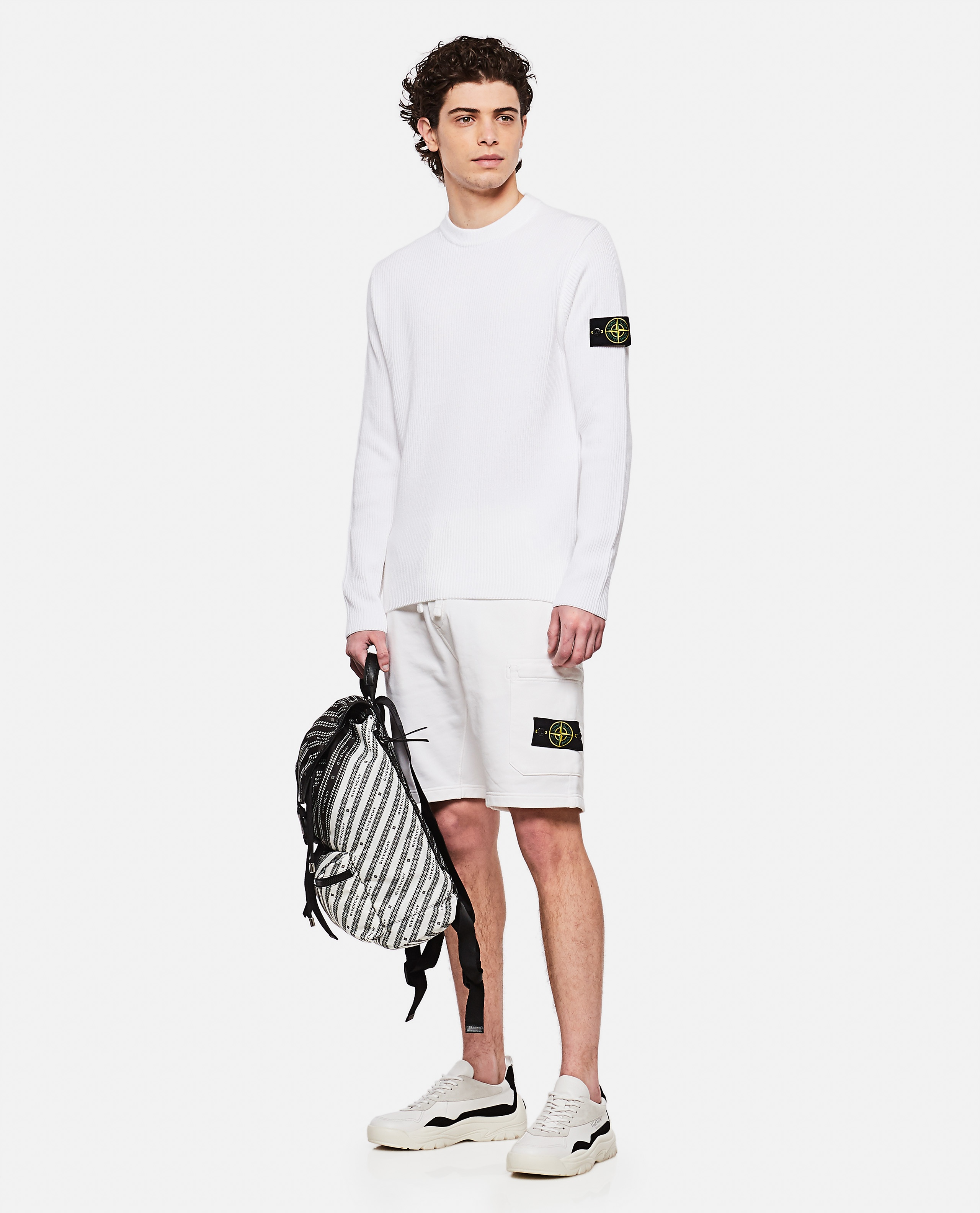 Sweater with logo patch Men Stone Island 000292760043117 2
