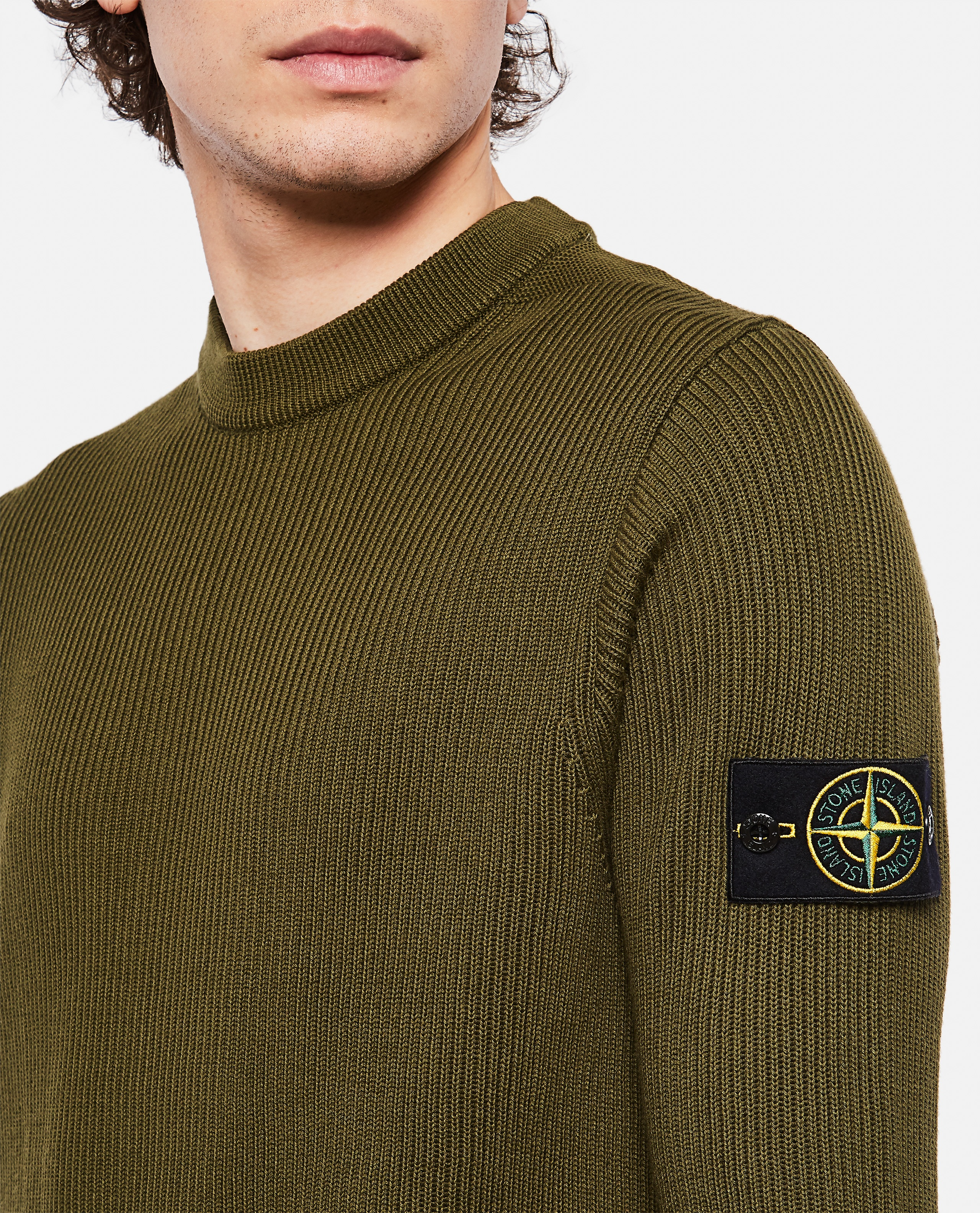 Sweater with logo patch Men Stone Island 000292760043119 4