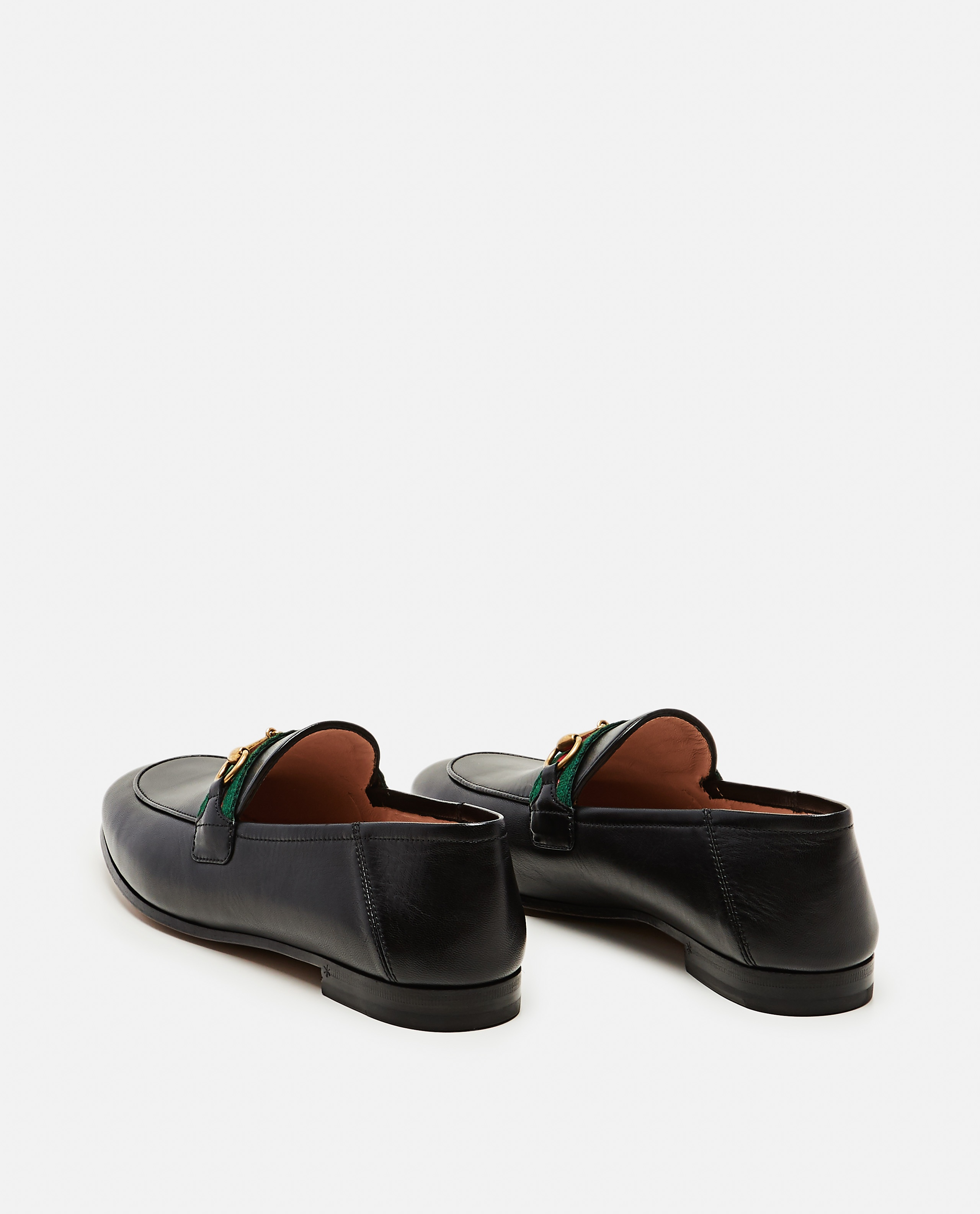 Moccasin with Web ribbon Women Gucci 000259340038369 3