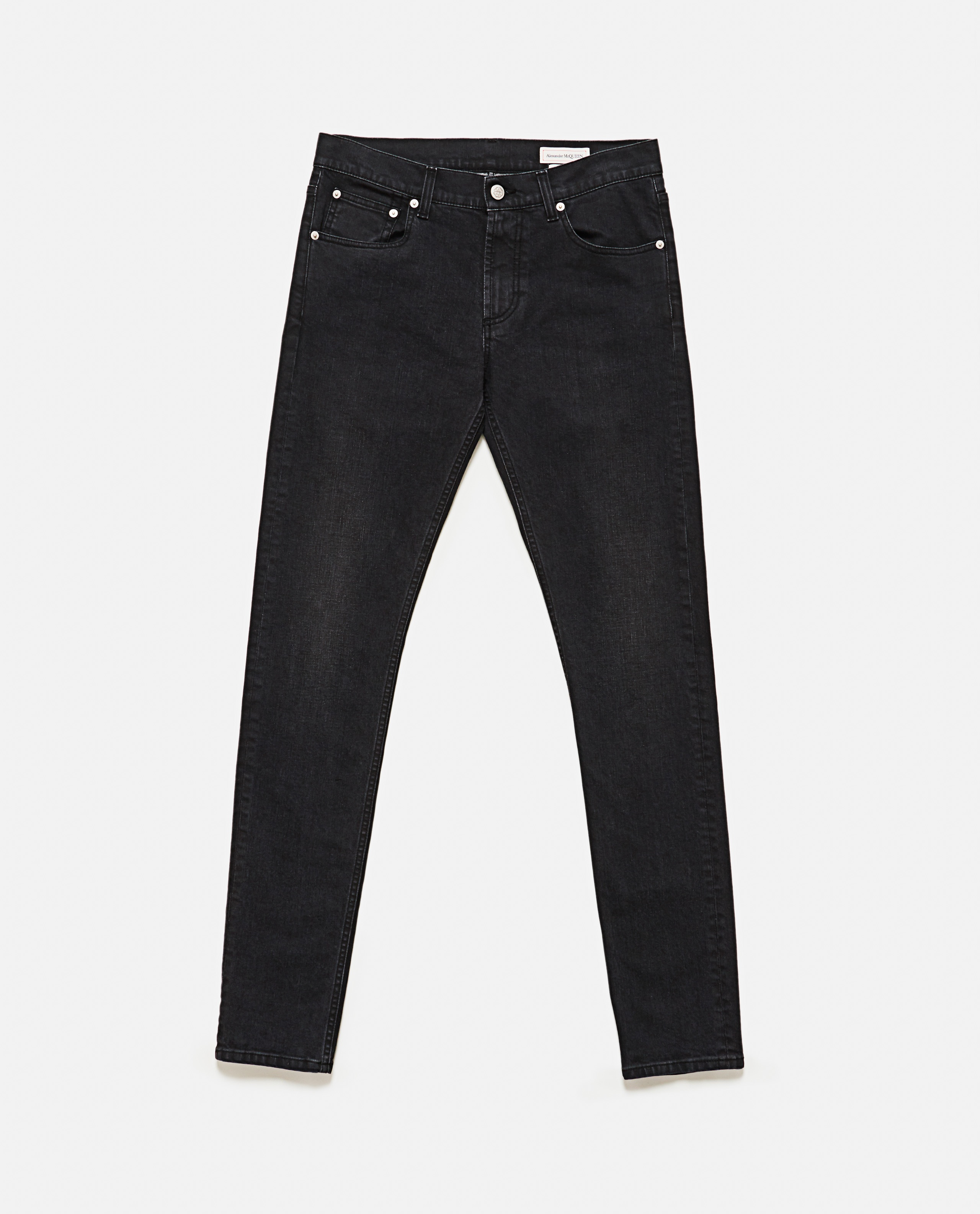 Slim fit jeans with embroidery Men Alexander McQueen 000179840026772 2