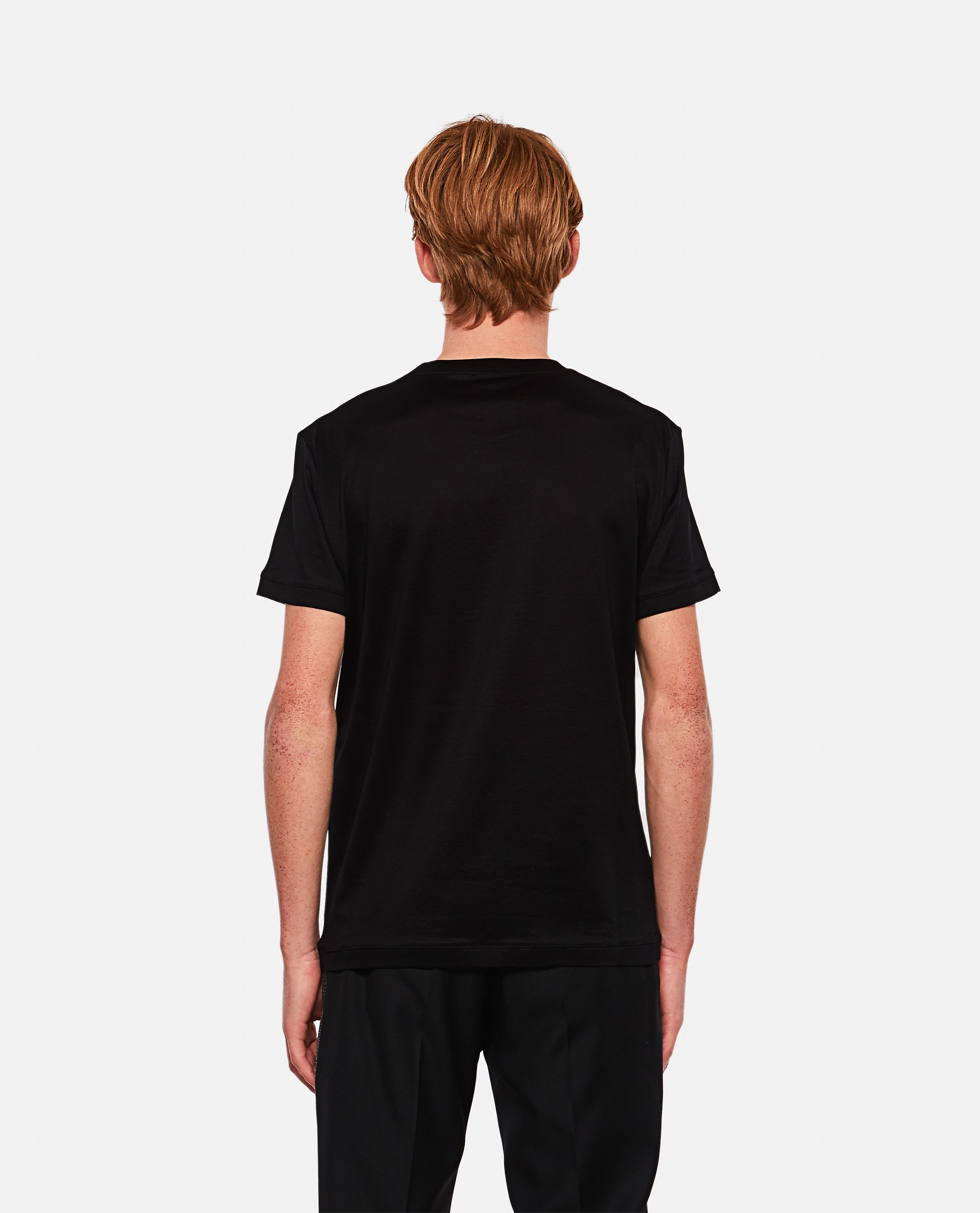 T-shirt with embroidered logo Men Alexander McQueen 000291060042850 3