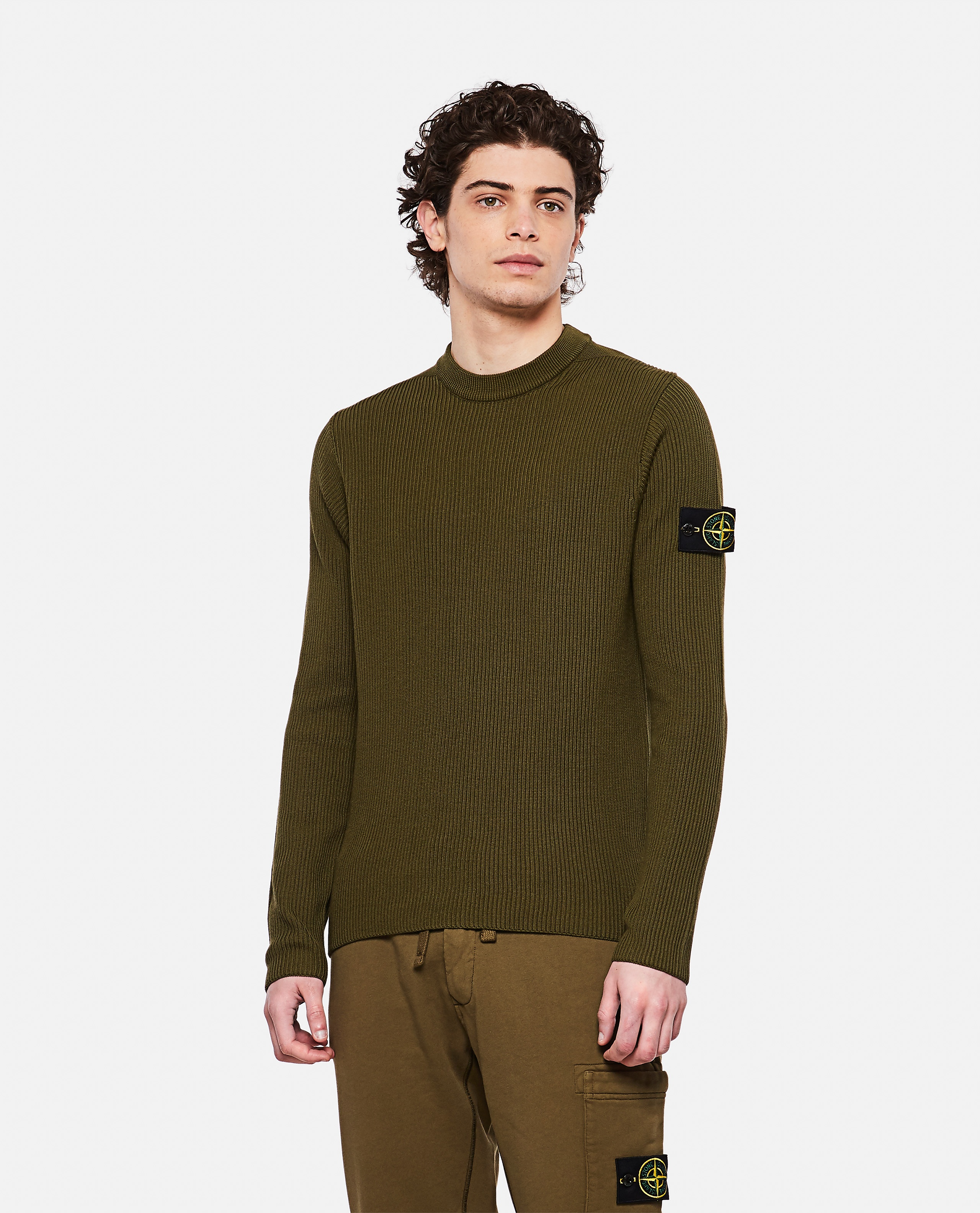 Sweater with logo patch Men Stone Island 000292760043119 1