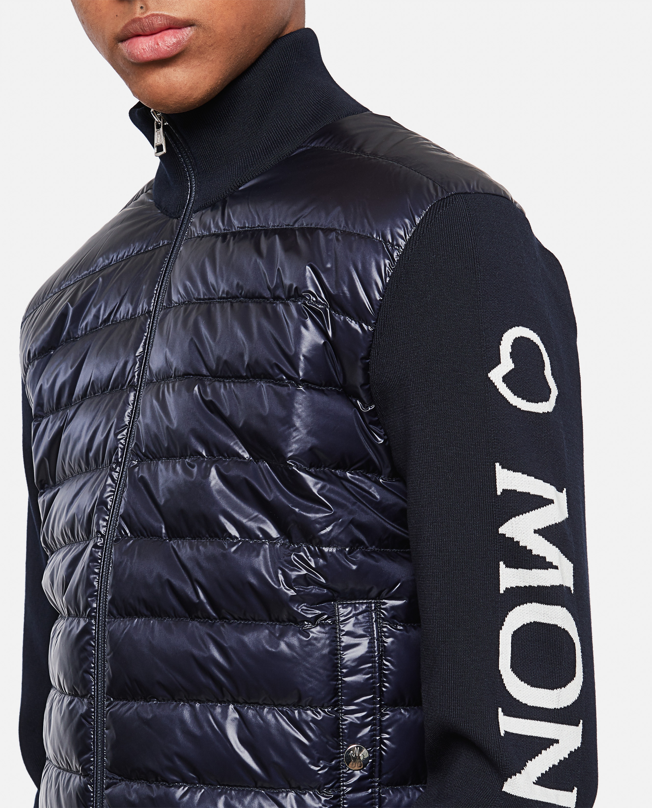 Padded blouson cardigan Men Moncler 000308610045260 4