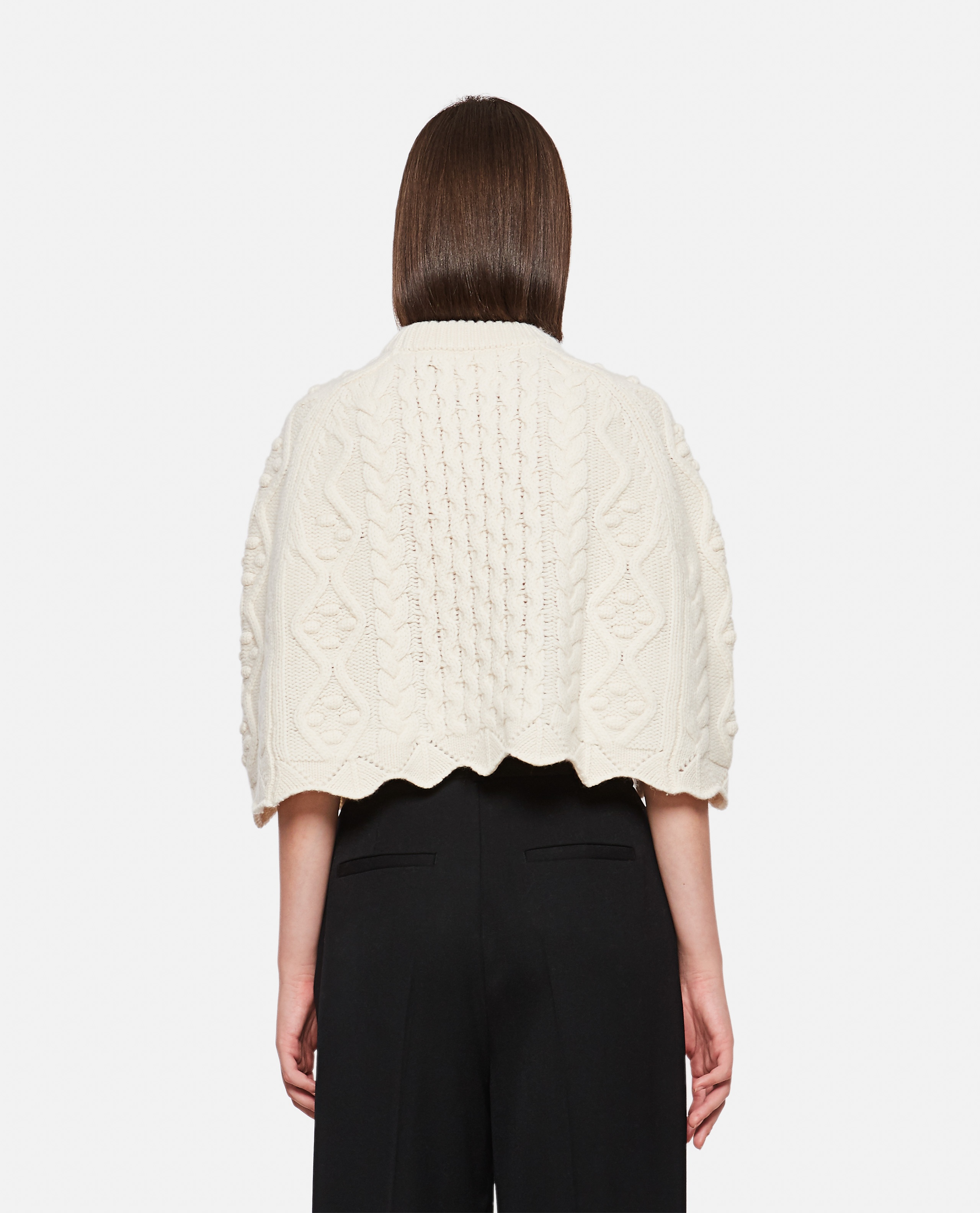 BEIRO WOOL AND CASHMERE CAPE Women Loulou Studio 000345690050421 3