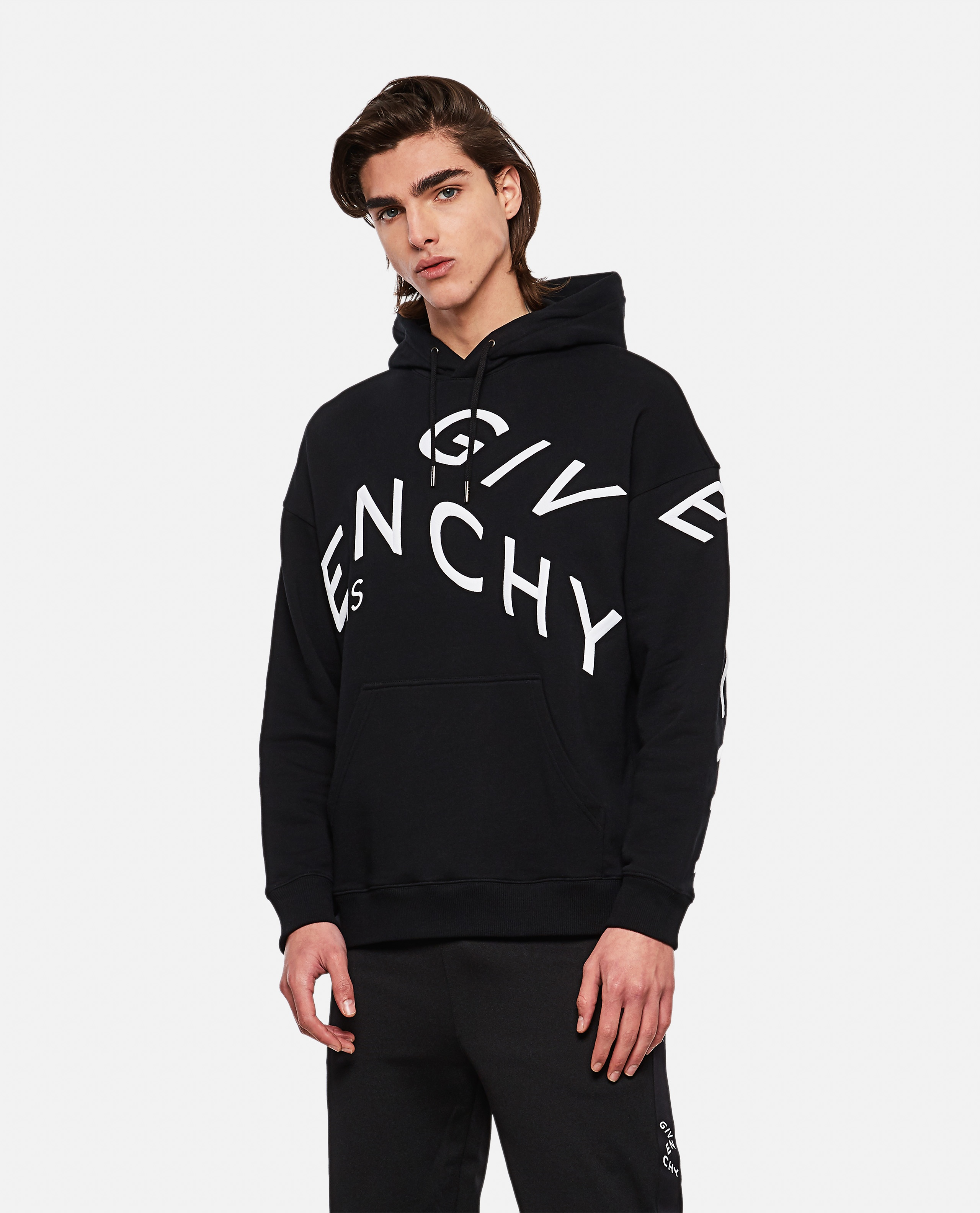 Refracted sweatshirt with embroidery Men Givenchy 000253110037400 1