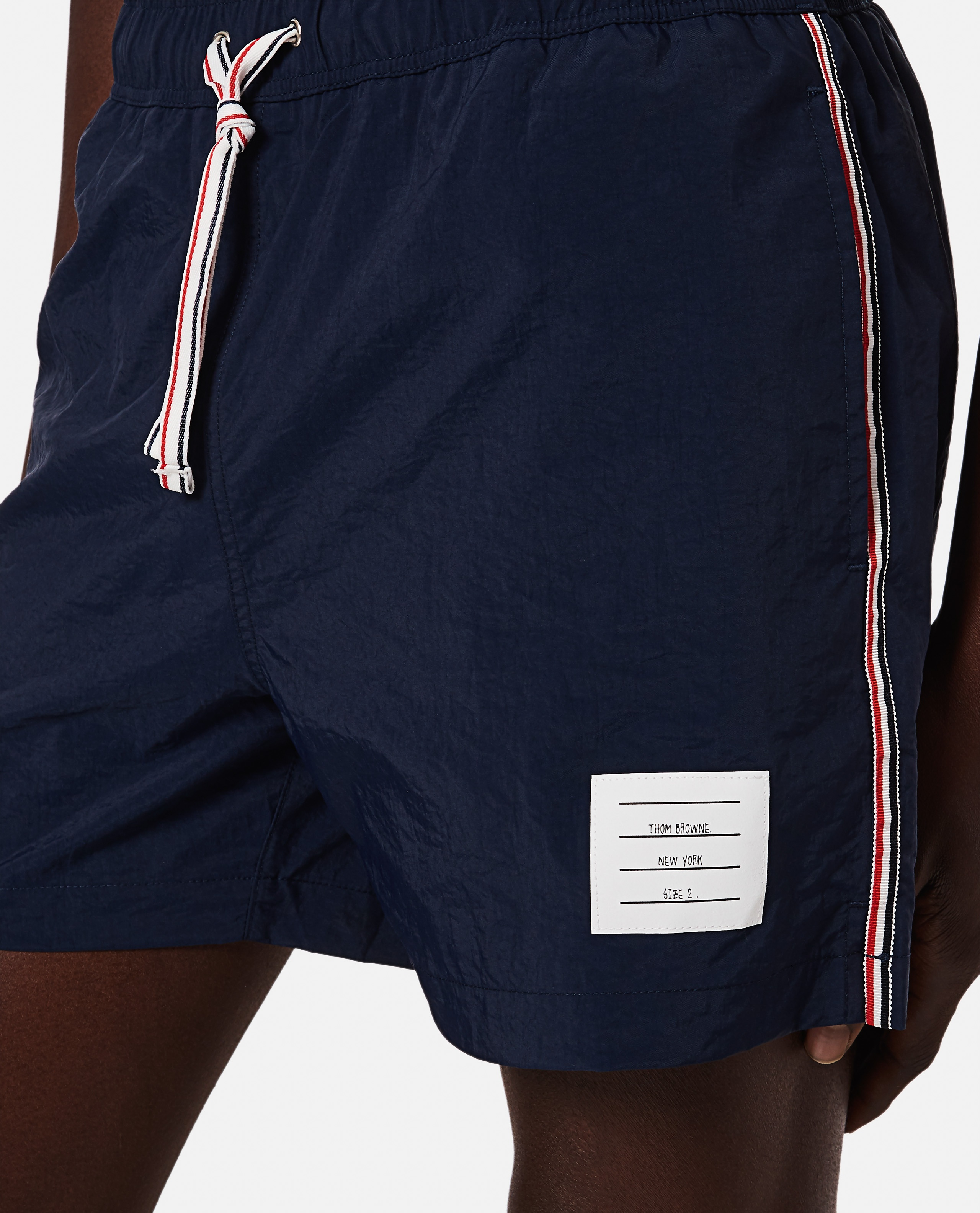 Thom Browne boxer costume in nylon with logo Men Thom Browne 000294780043363 4