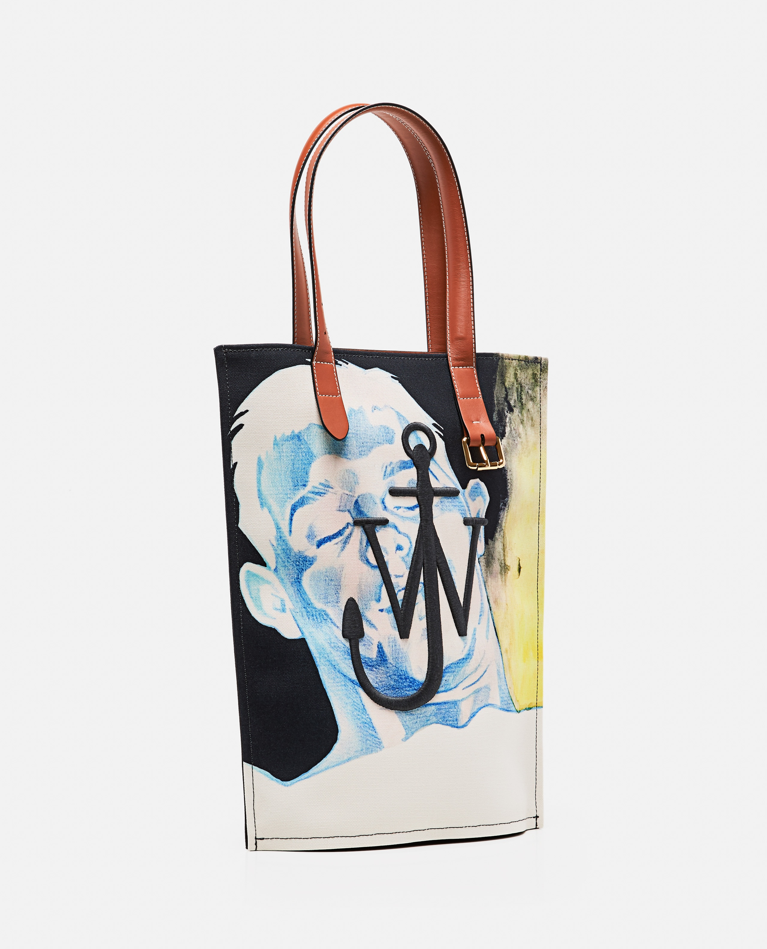 Tote bag printed with embroidered logo Men J.W. Anderson 000293310043196 2