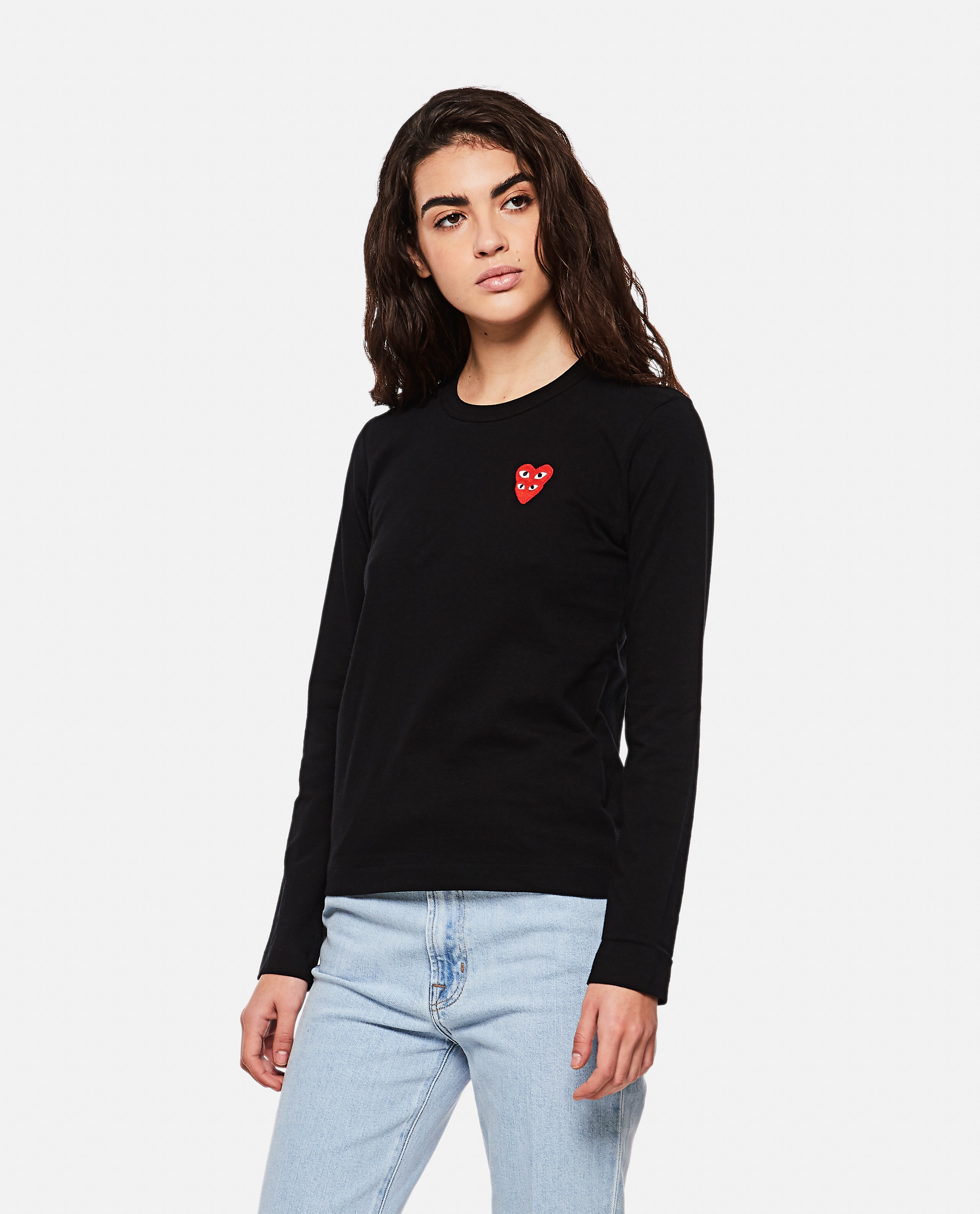 T-shirt with hearts Women Comme des Garcons Play 000267300039441 1