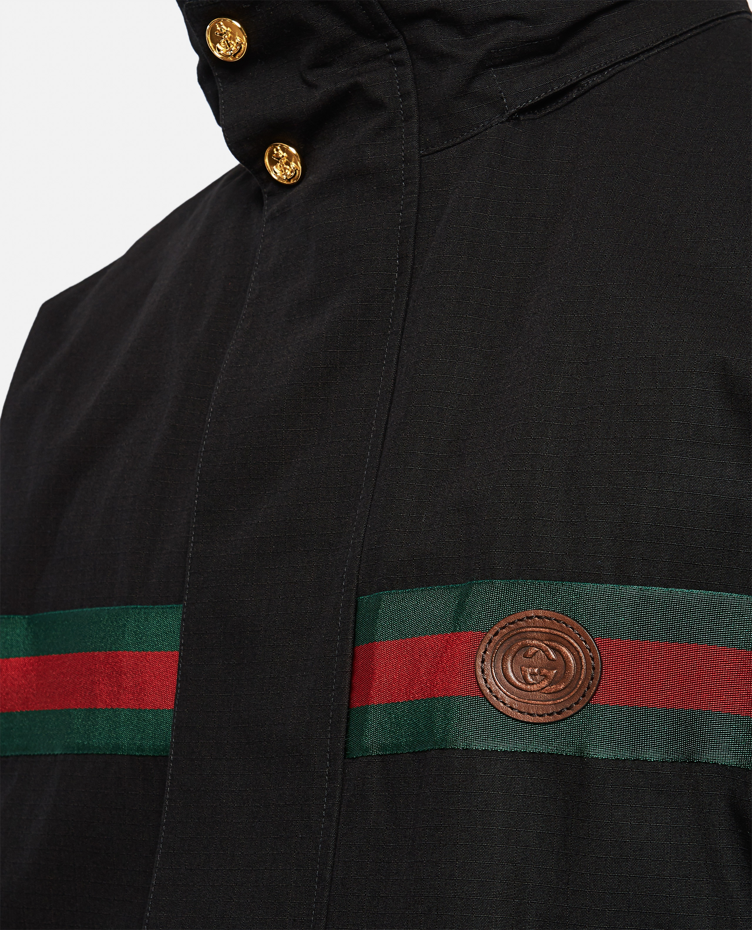 Reversible nylon and cotton jacket Men Gucci 000293050043162 4