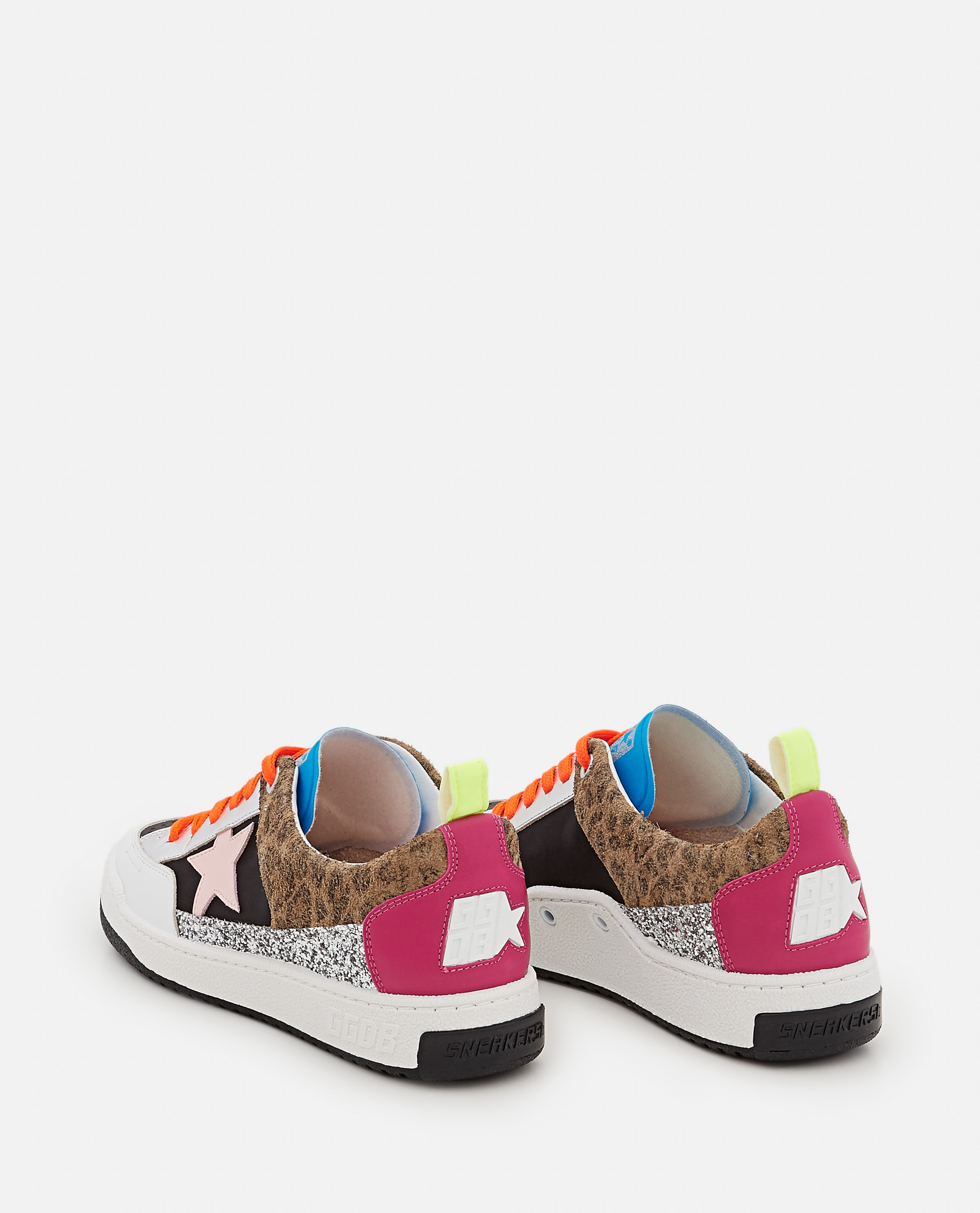 YEAH NYLON AND LEATHER SNEAKERS  Women Golden Goose 000322380047133 3
