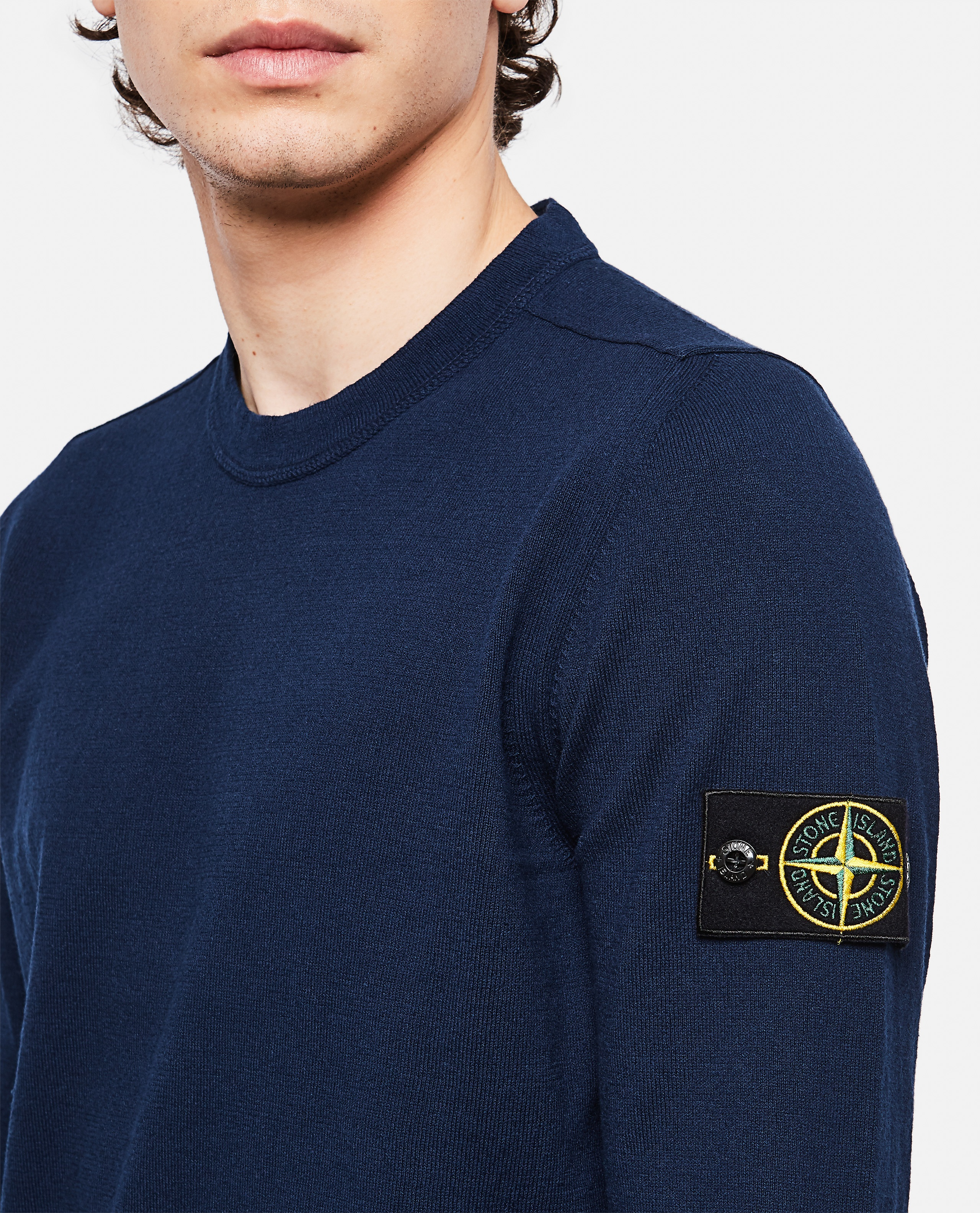 Sweater with logo patch Men Stone Island 000292730043109 4