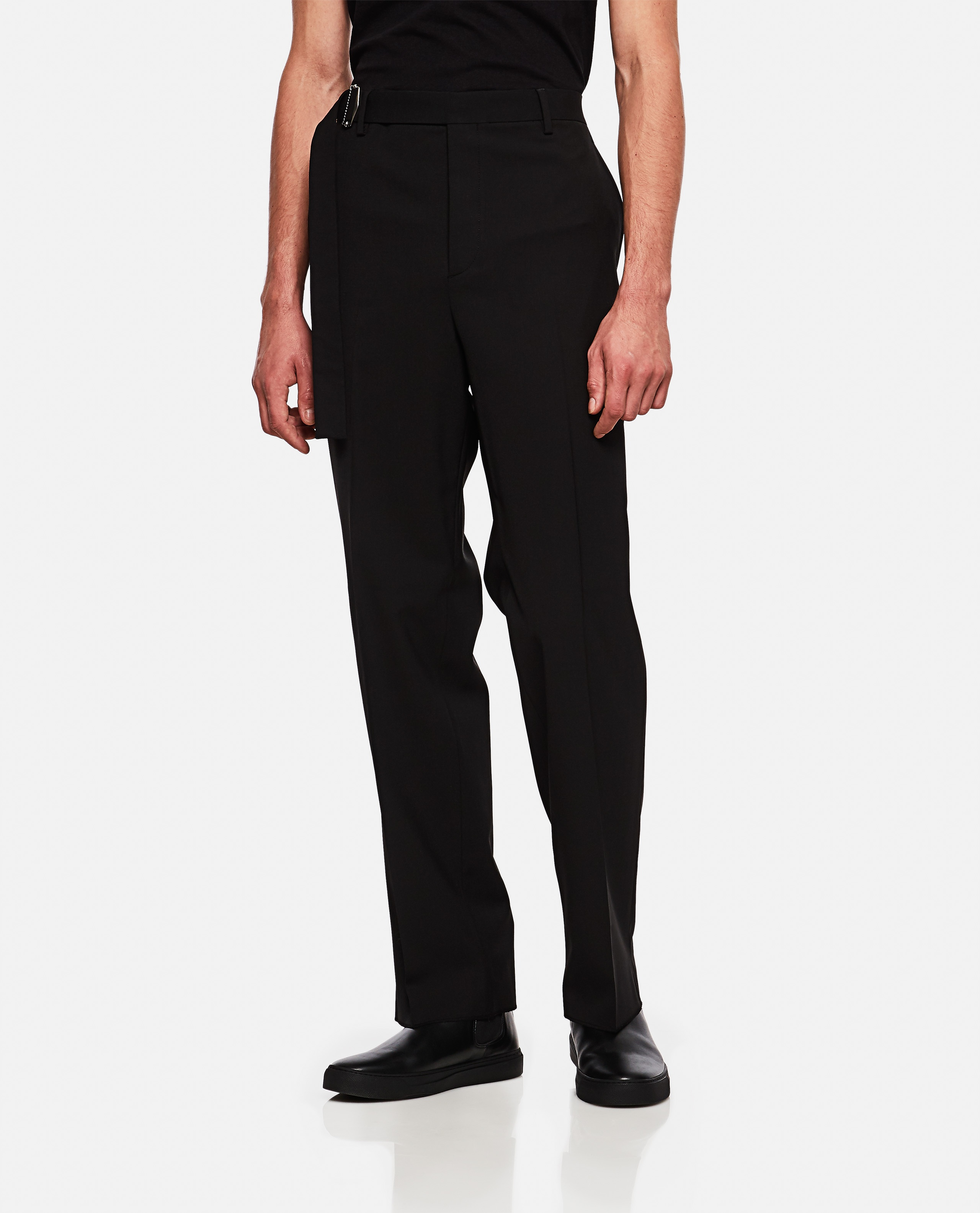 Valentino trousers in wool blend with buckle Men Valentino 000264010039012 1