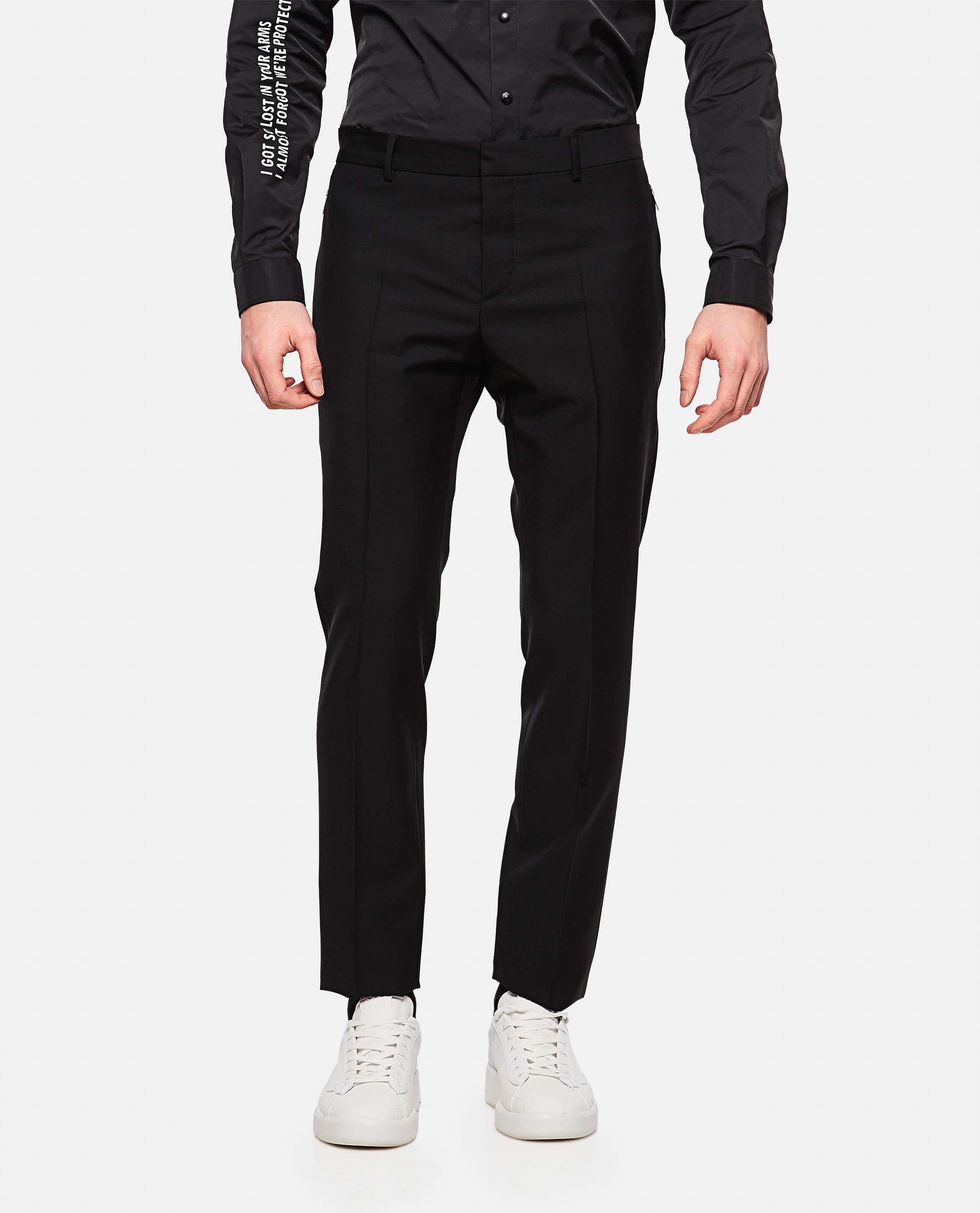 Wool and mohair blend trousers Men Valentino 000218220032338 1
