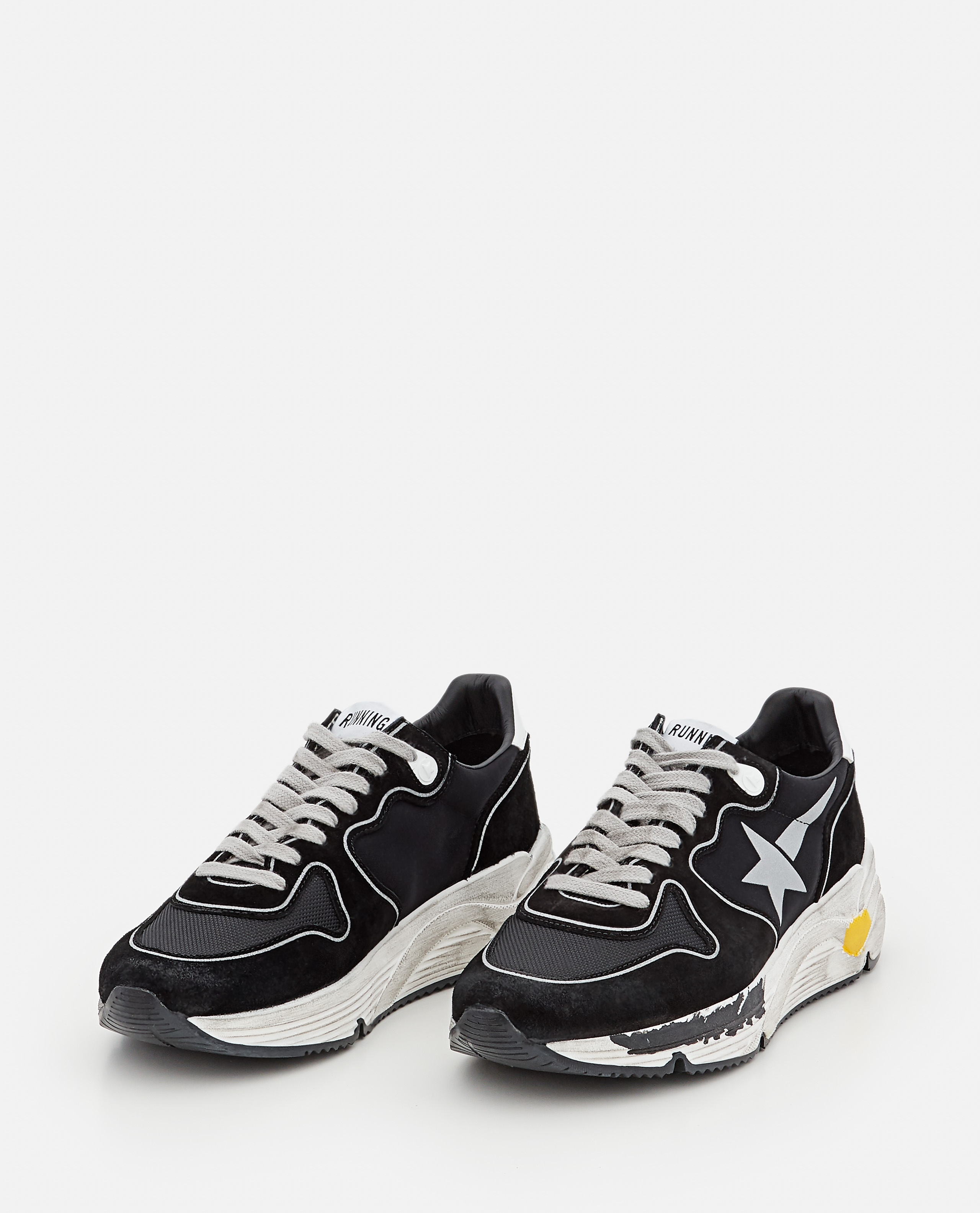 RUNNING SOLE LYCRA AND LEATHER SNEAKERS Women Golden Goose 000322020047097 2