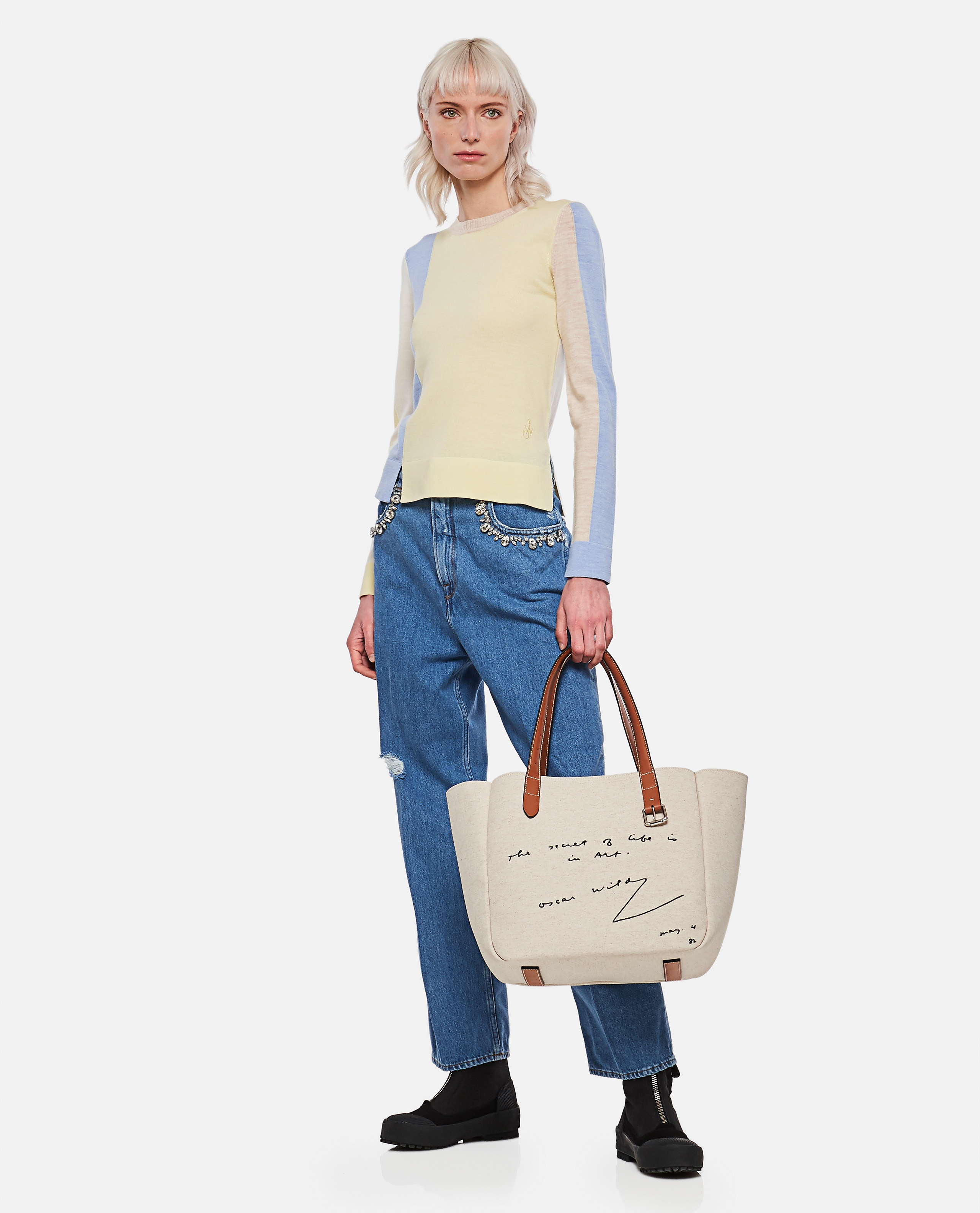 Kim jeans in denim with applied crystals Women Golden Goose 000286420042265 2