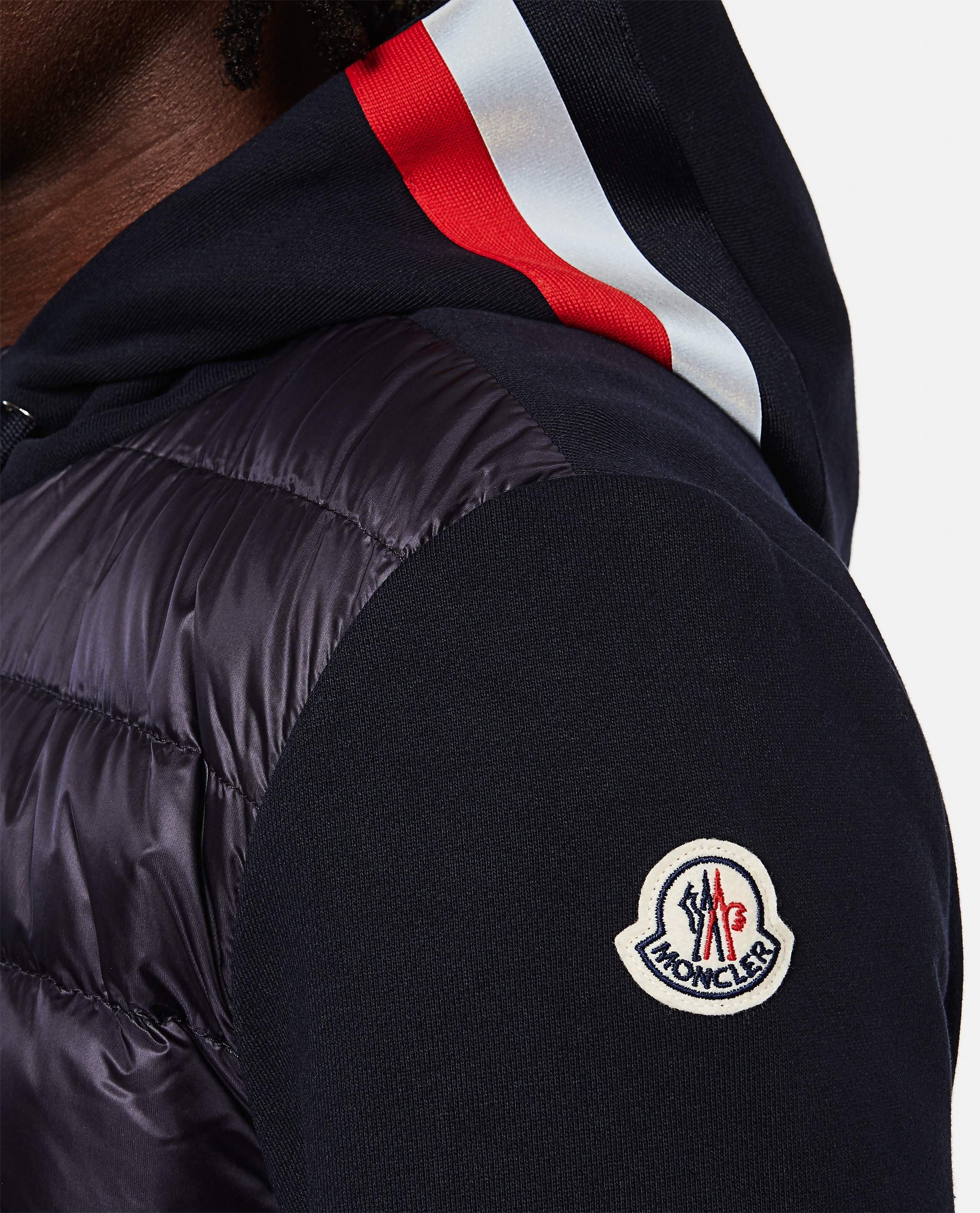Padded sweatshirt with zip Men Moncler 000271600040013 4