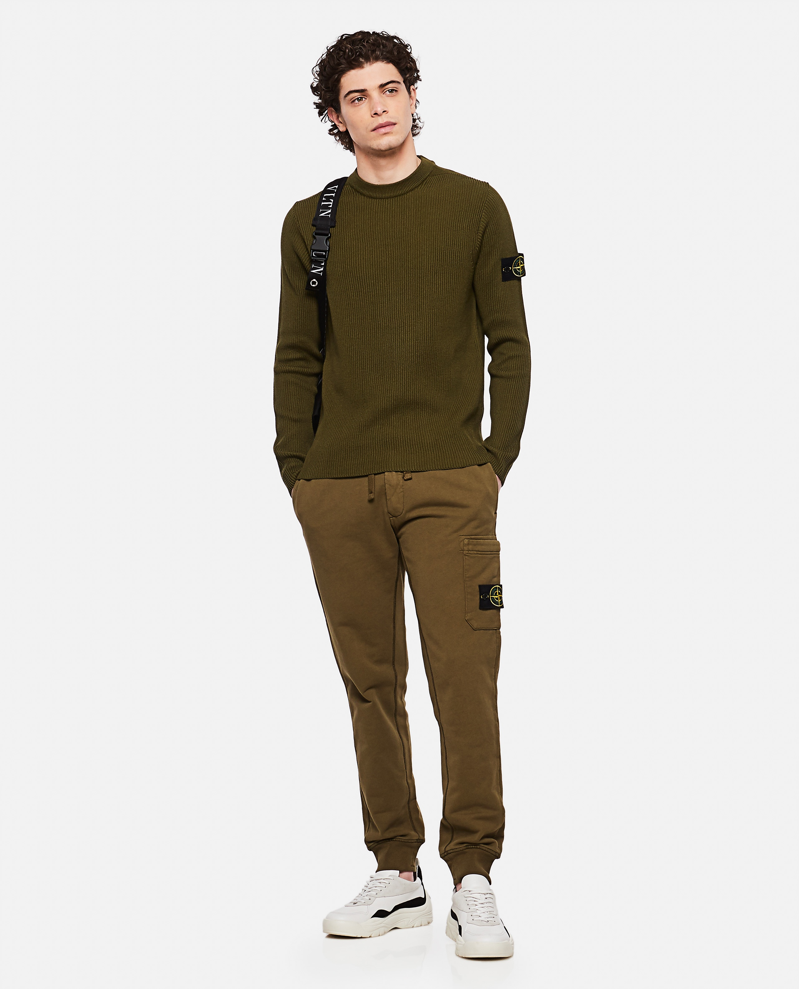 Sweater with logo patch Men Stone Island 000292760043119 2