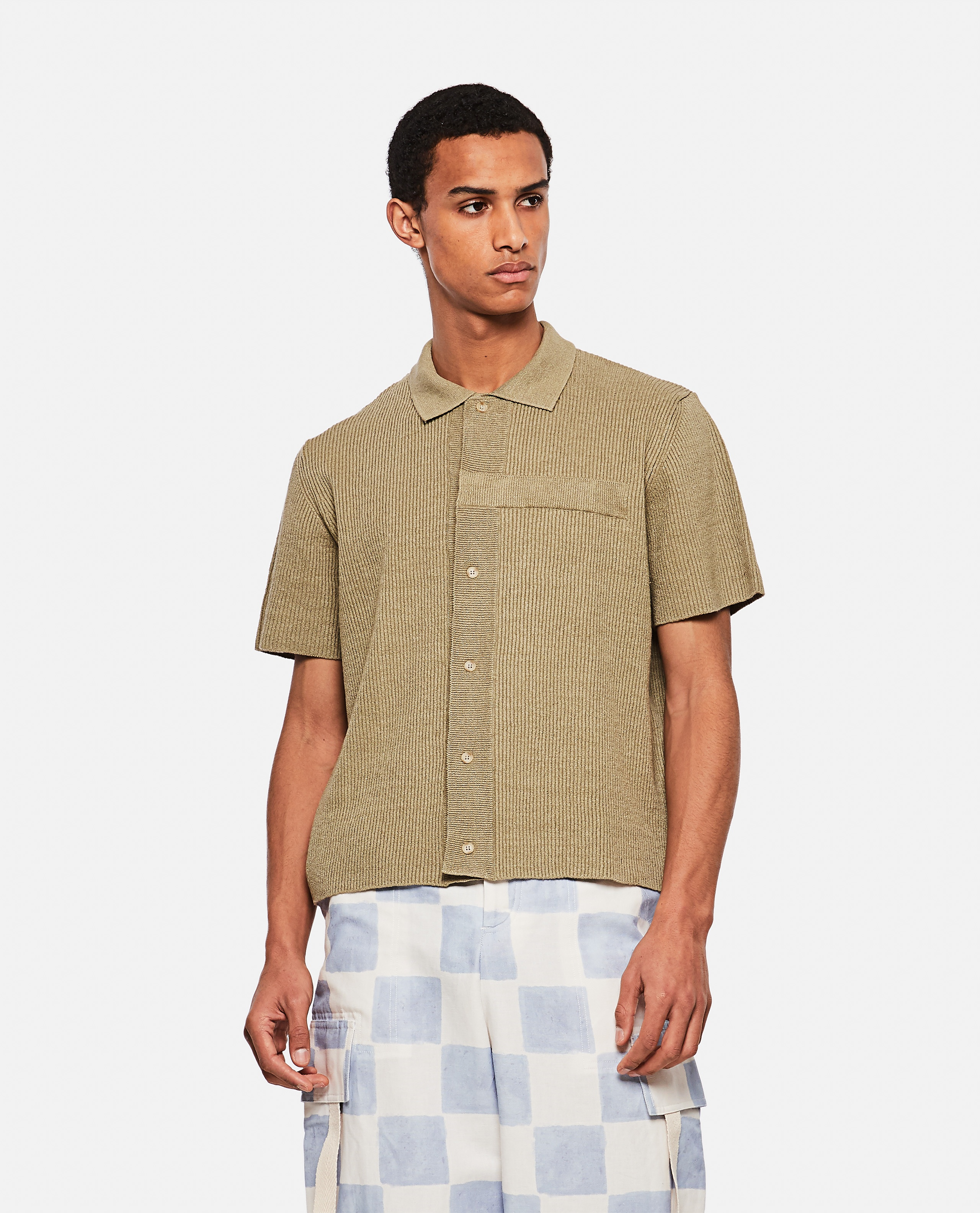 La chemise maille knitted polo shirt Men Jacquemus 000293780043248 1