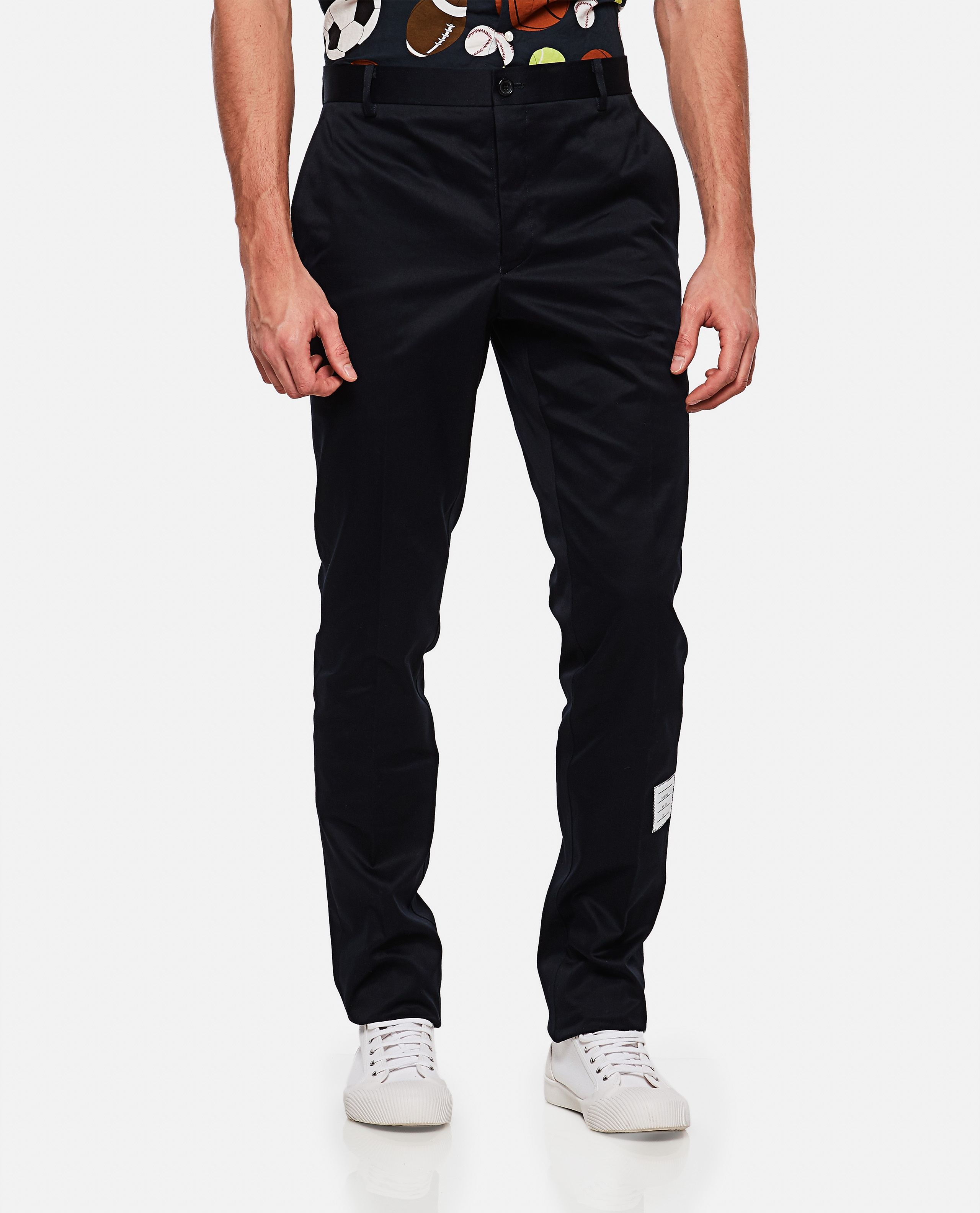 Cotton twill trousers Men Thom Browne 000215830032004 1