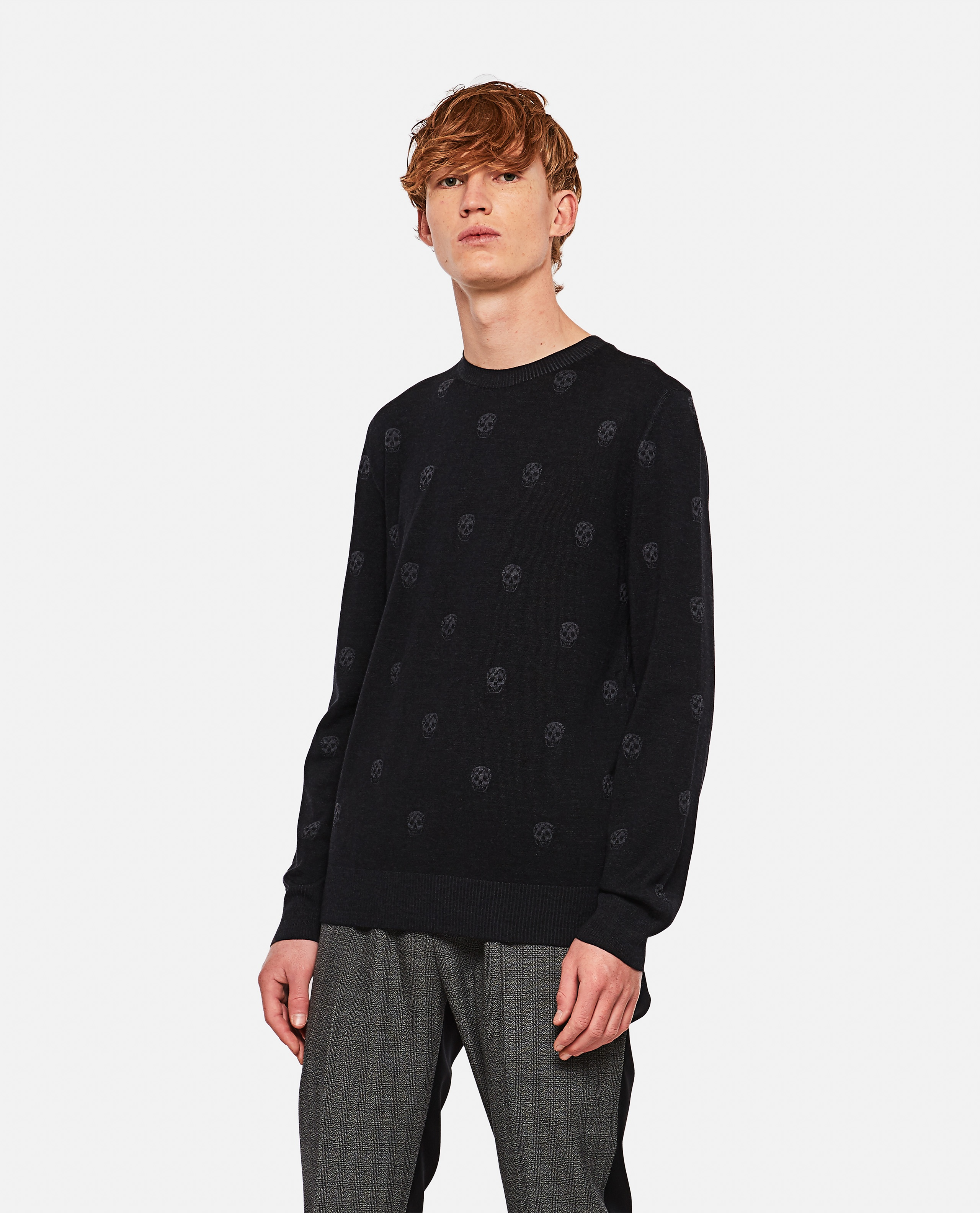 Sweater with multiple skulls Men Alexander McQueen 000291030042846 1