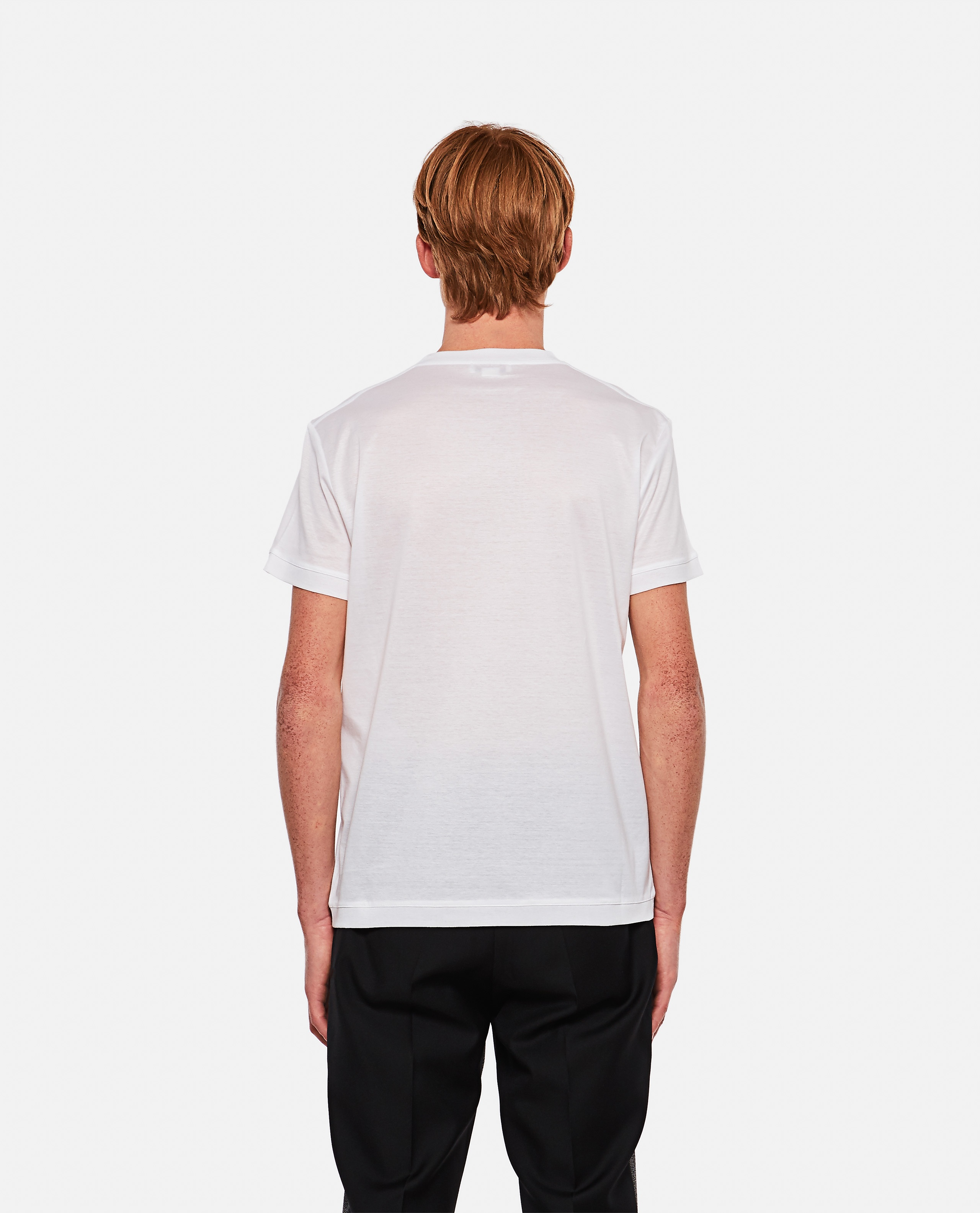 T-shirt with embroidered logo Men Alexander McQueen 000291060042851 3