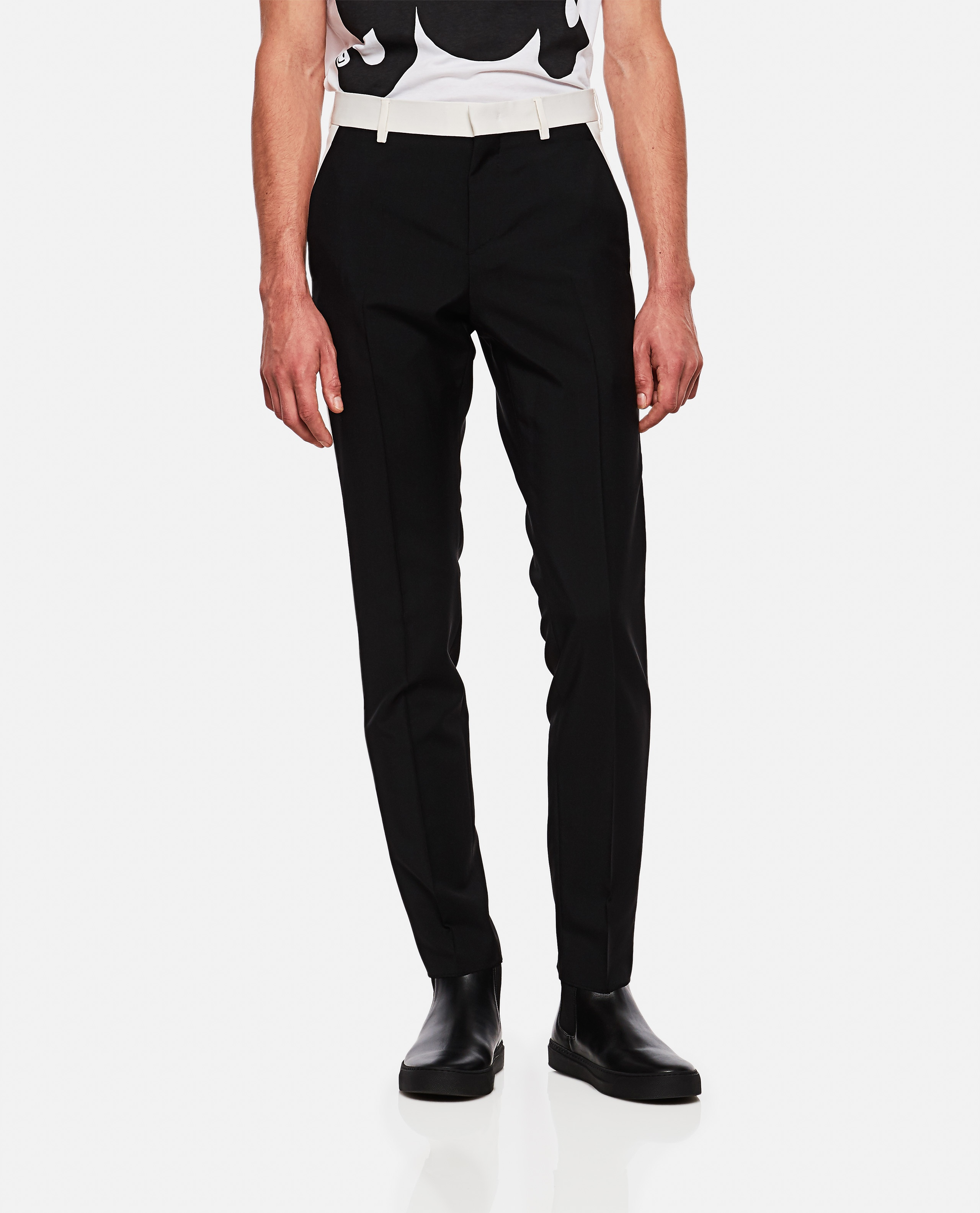 Trousers with side bands Men Valentino 000263920039003 1