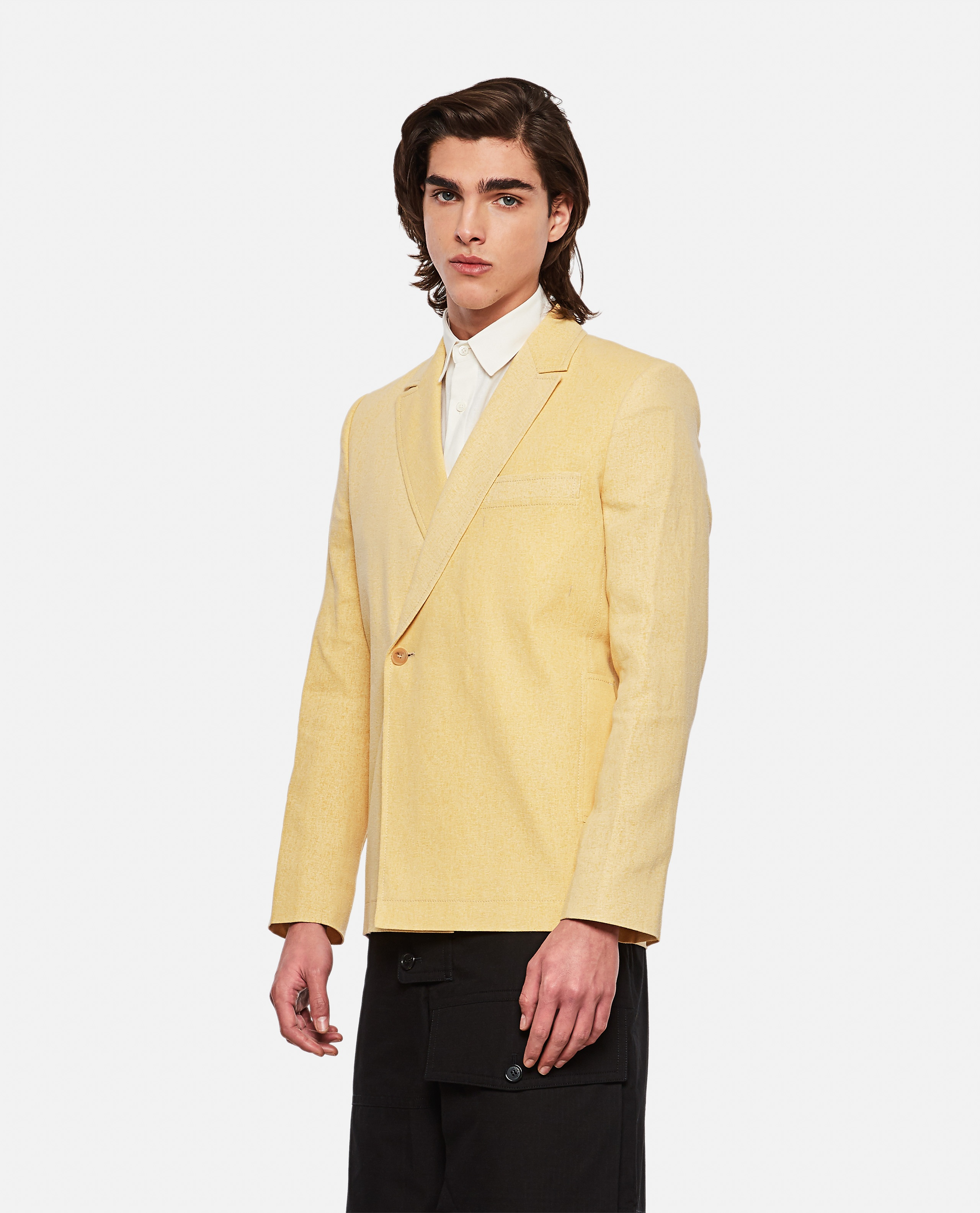 Linen blend jacket The Moulin dress Men Jacquemus 000293620043232 1