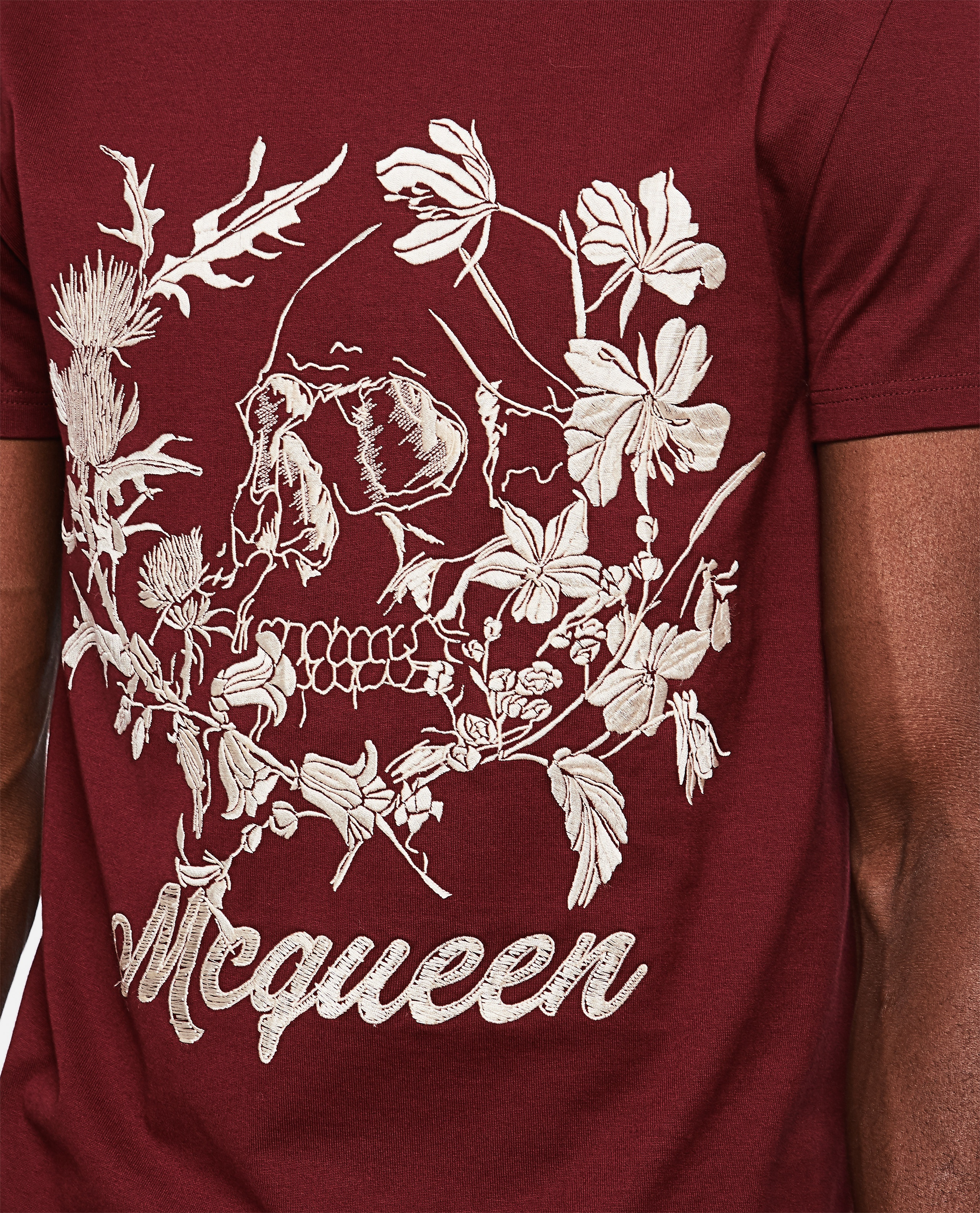 T-shirt with floral pattern Men Alexander McQueen 000266370039313 3