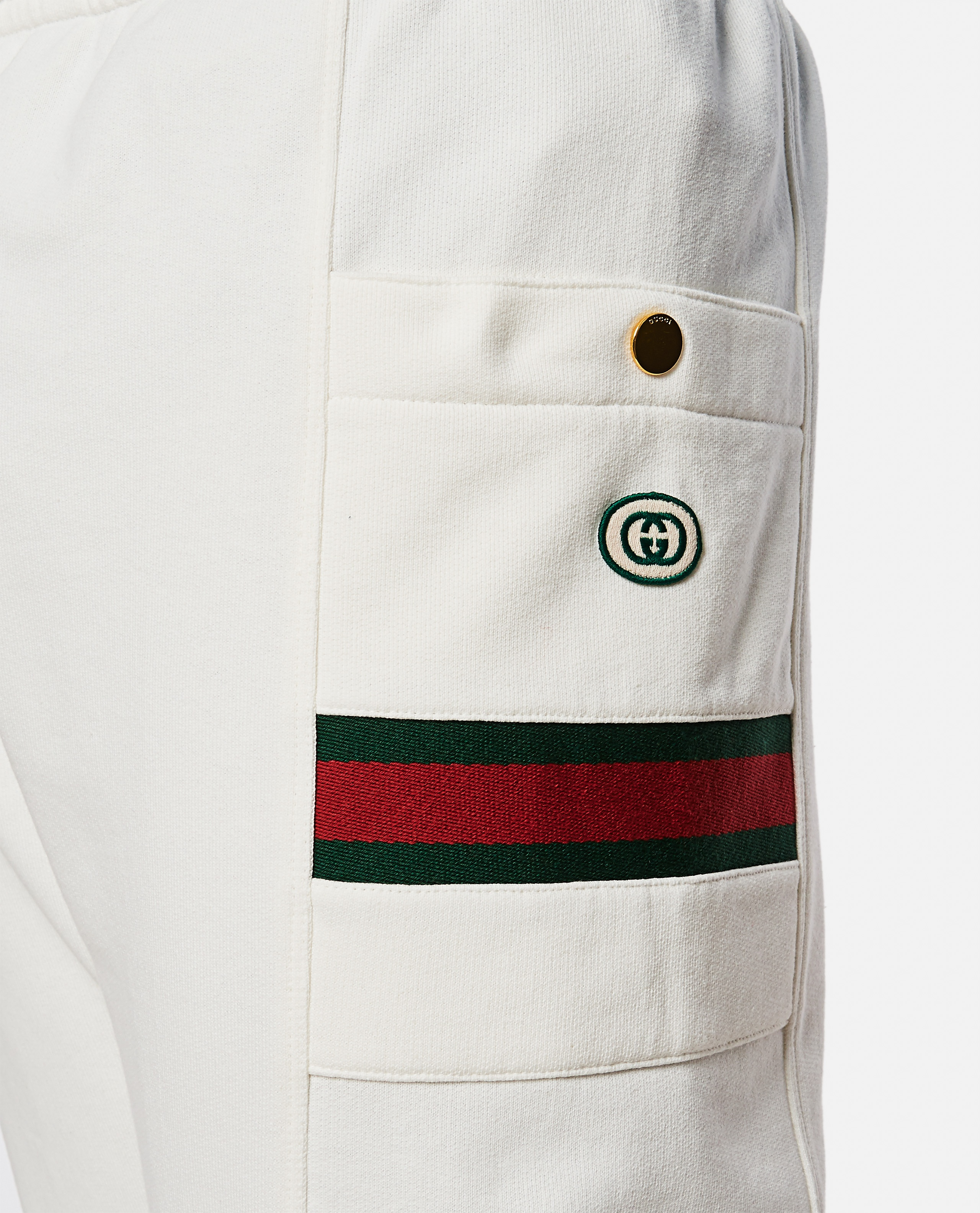 Jersey jogging trousers with Web ribbon Men Gucci 000267660039487 4