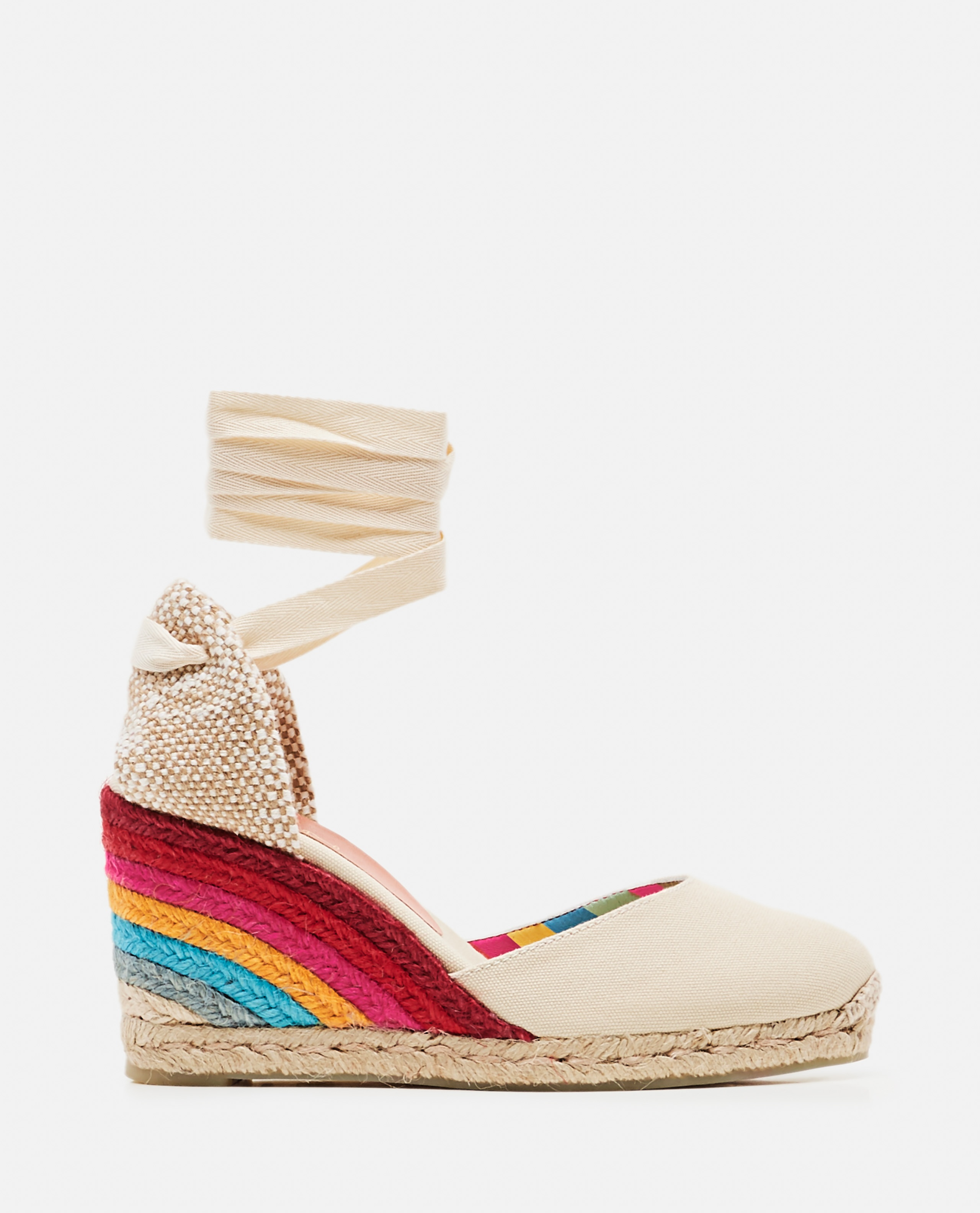 Castañer by Paul Smith. Espadrilles in tela con zeppa 9cm Donna Castaner 000286220042242 1