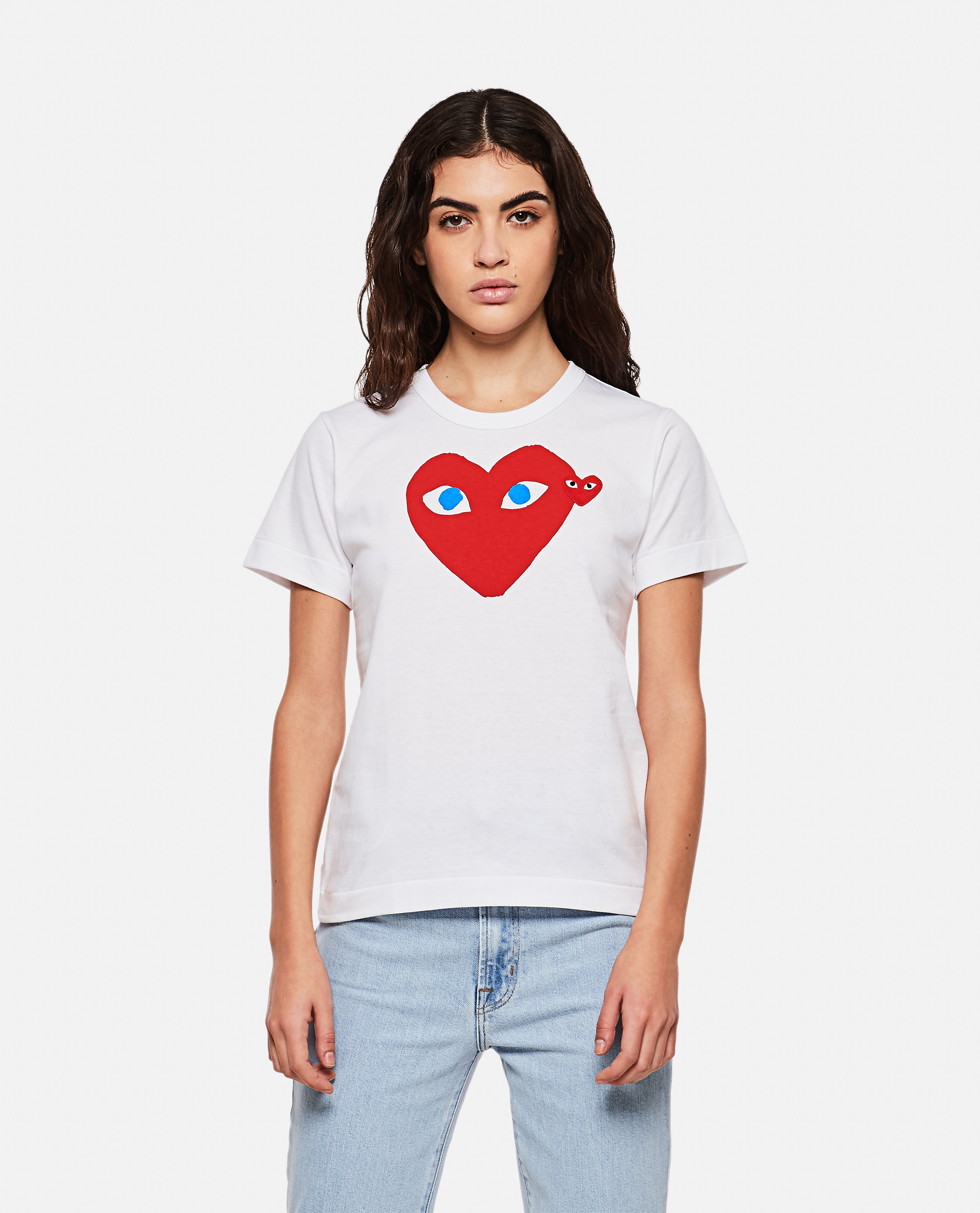 T-shirt con stampa logo Donna Comme des Garcons Play 000107000016296 1