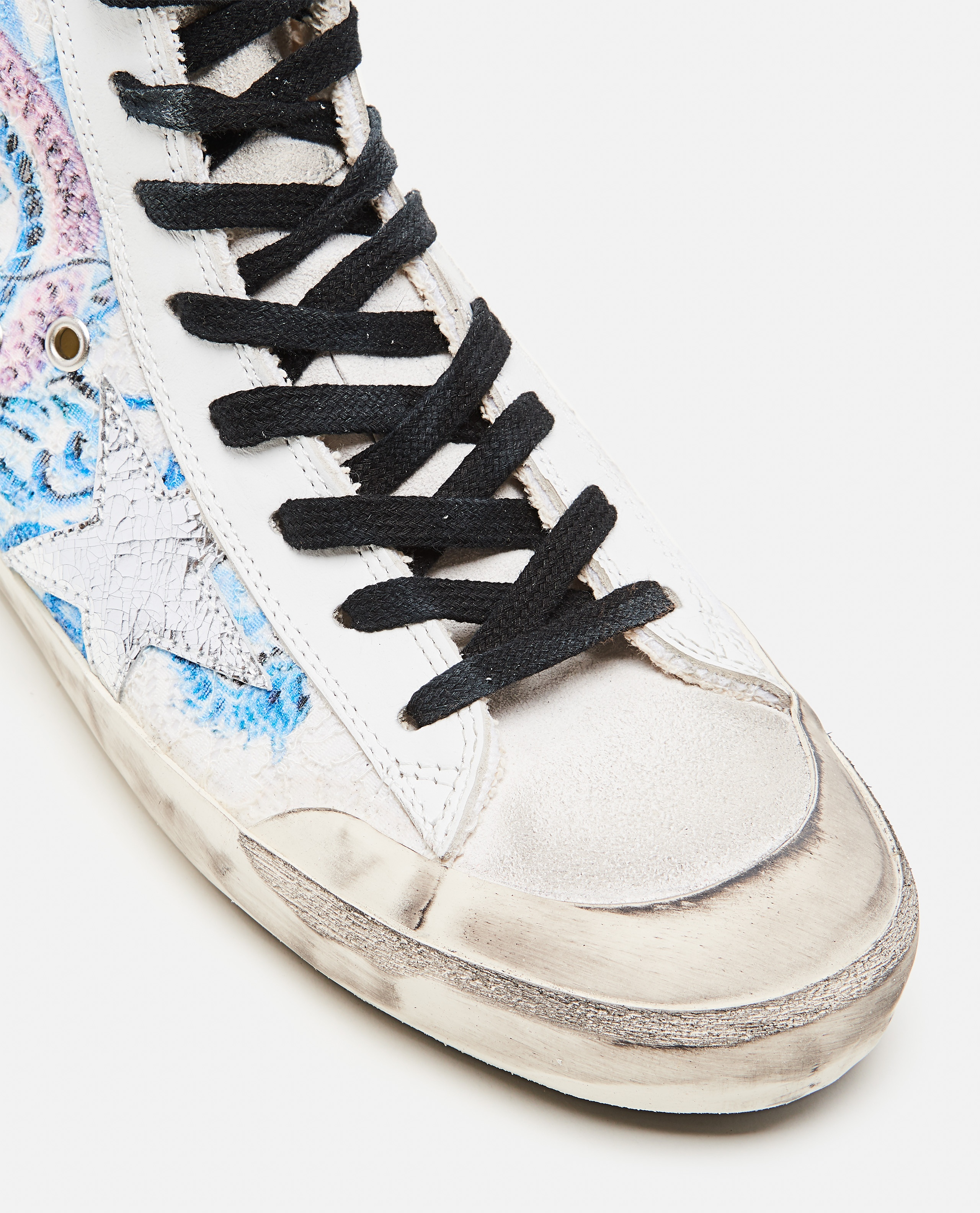Francy Lace sneakers with Japanese Crackle` Star print Donna Golden Goose 000286860042310 4