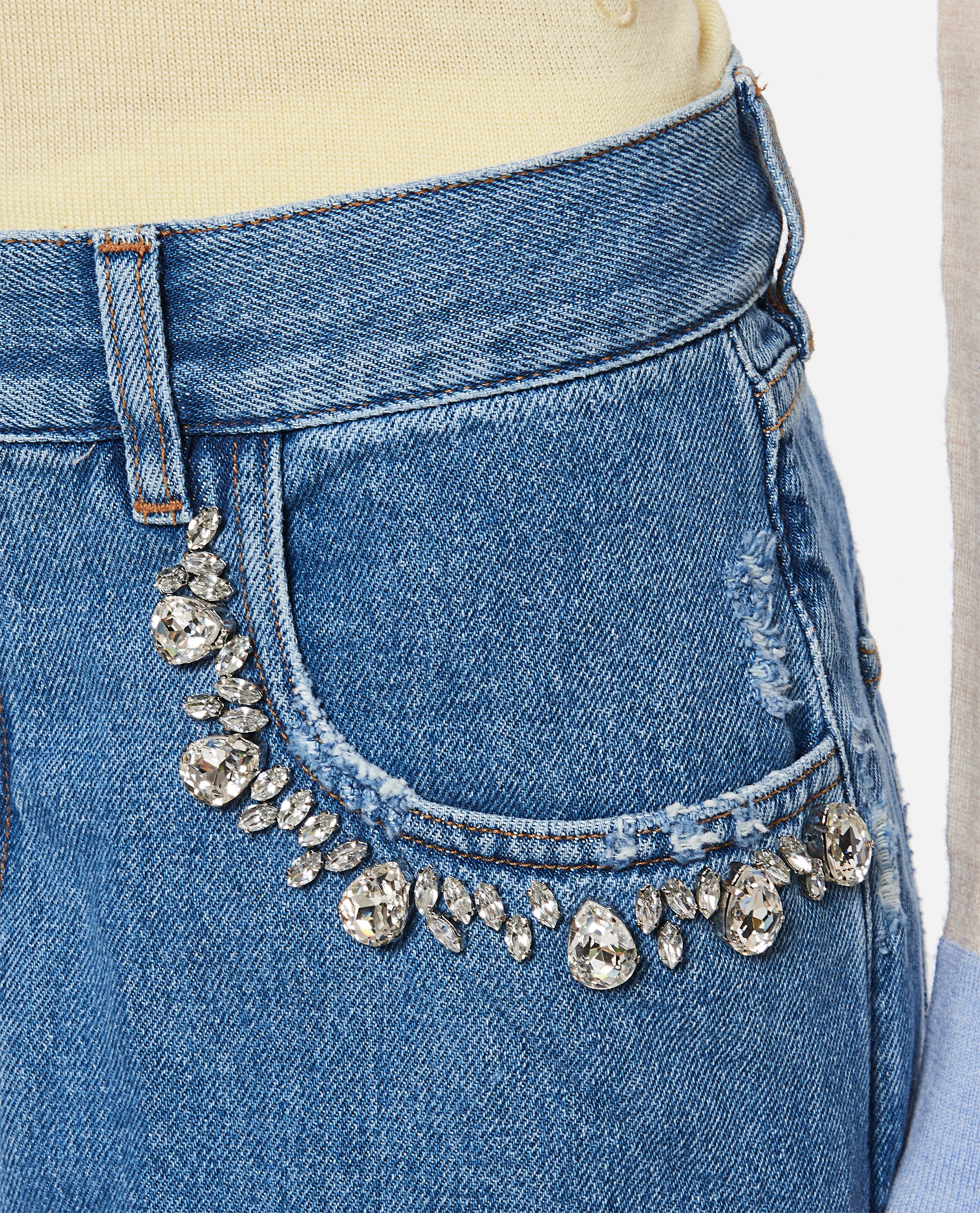 Kim jeans in denim with applied crystals Women Golden Goose 000286420042265 4