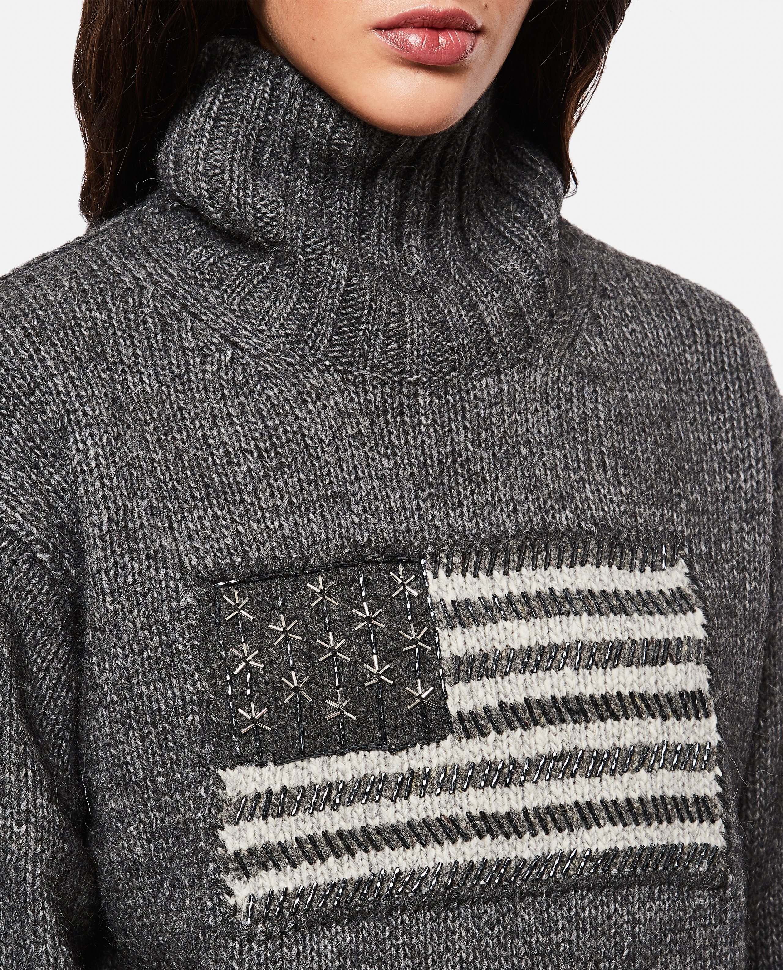 Sweater with flag intarsia Women Polo Ralph Lauren 000265480039211 4
