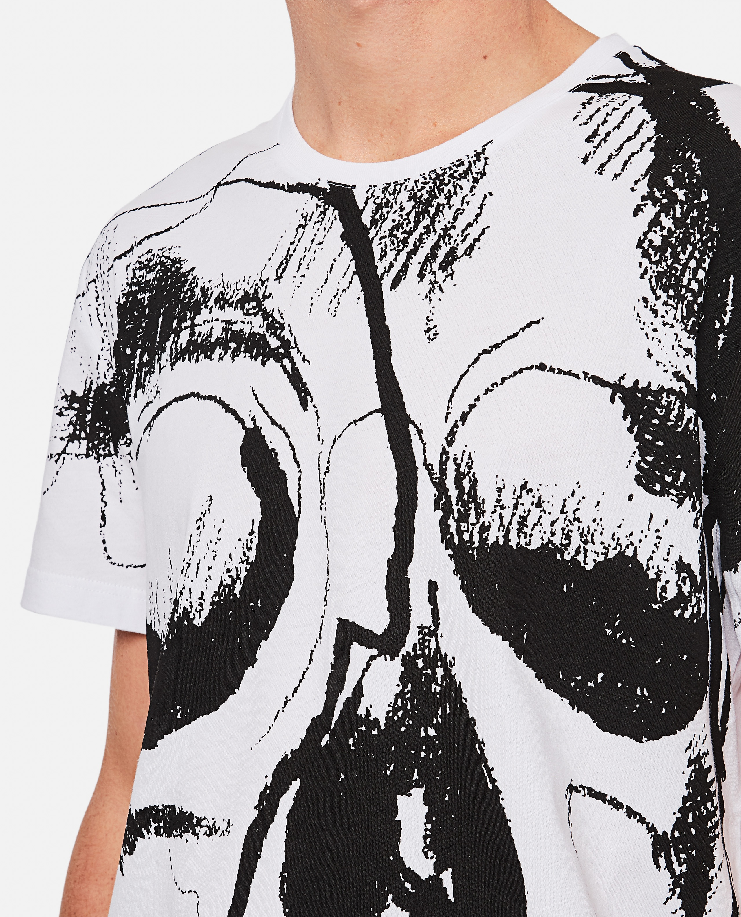 "T-shirt with ""Skull"" print Men Alexander McQueen 000268790039631 4"