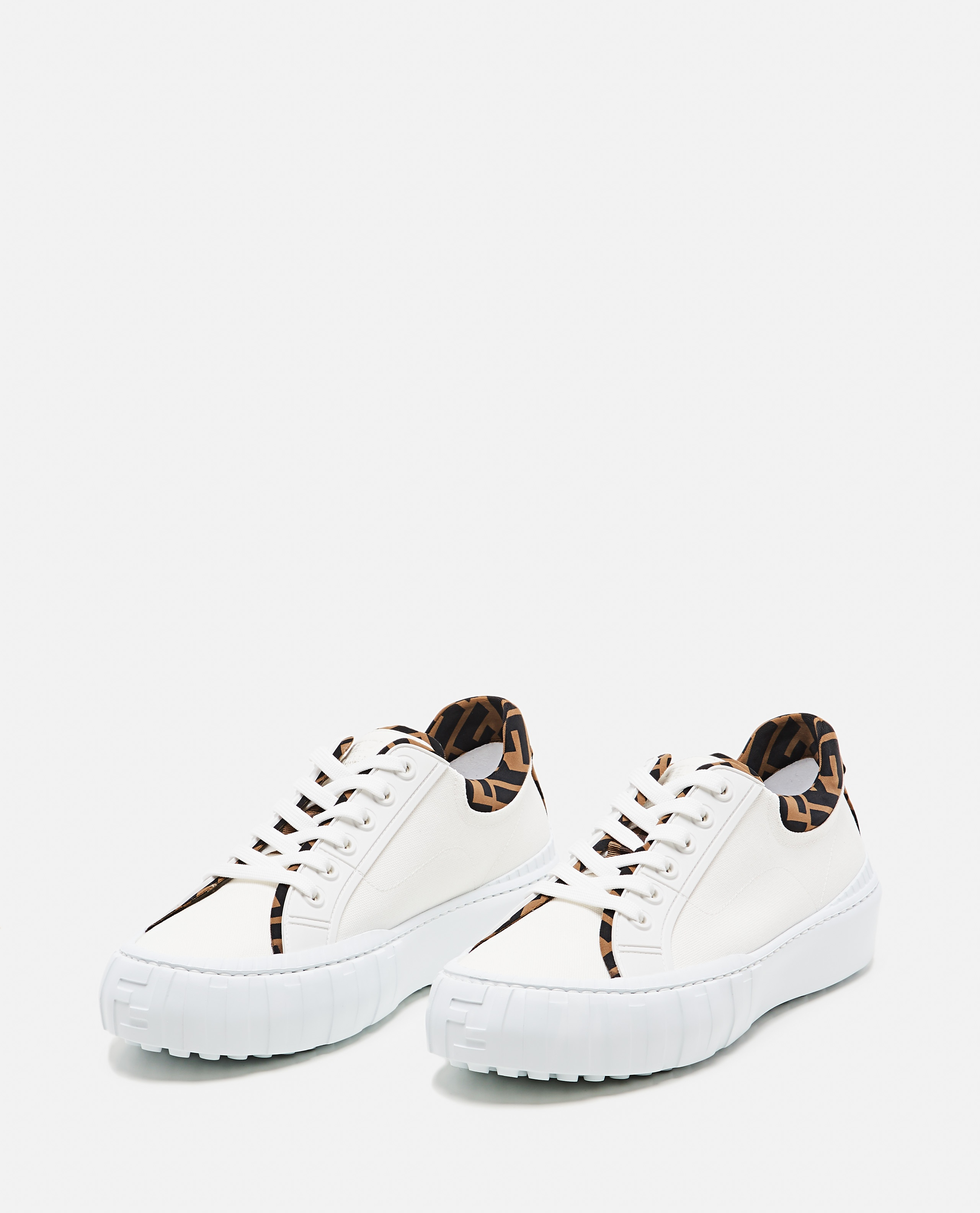 Low top Fendi Force sneaker in canvas Uomo Fendi 000310410045517 2