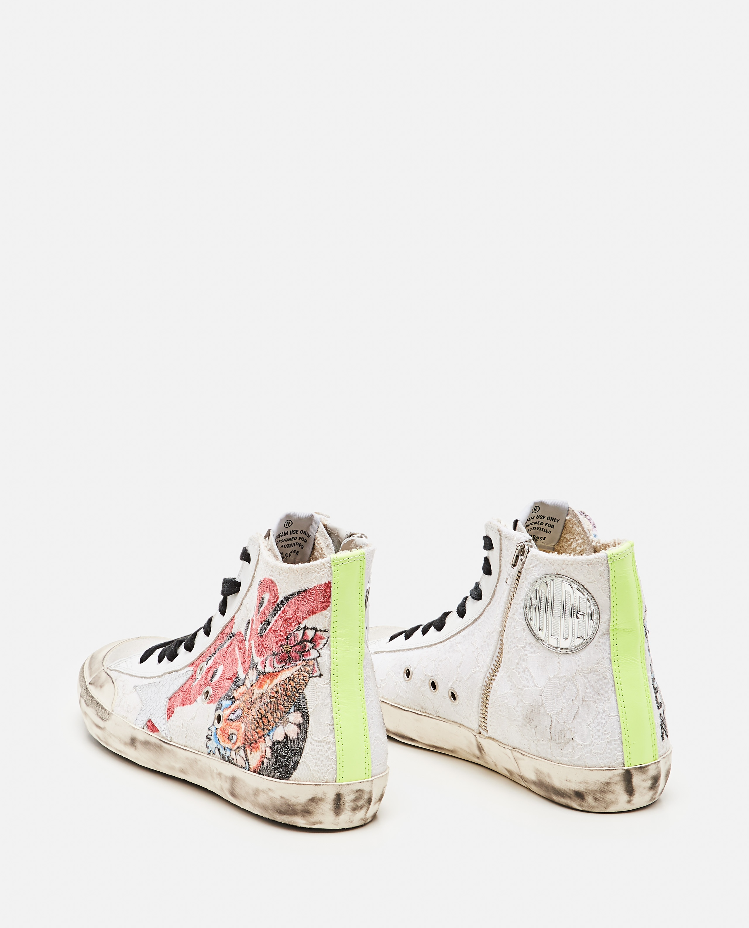 Francy Lace sneakers with Japanese Crackle` Star print Donna Golden Goose 000286860042310 3